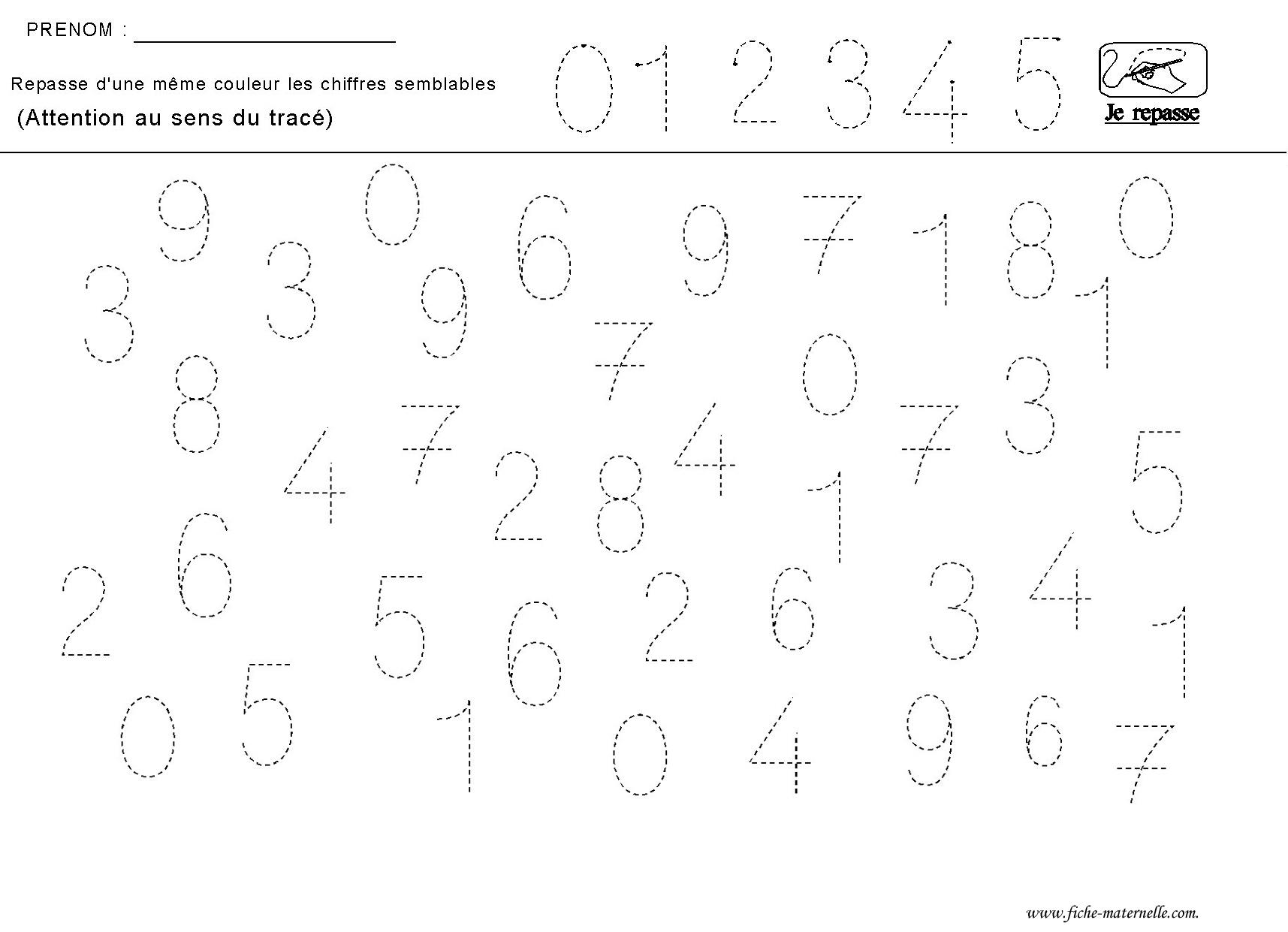 Très apprendre a ecrire les chiffres YY14