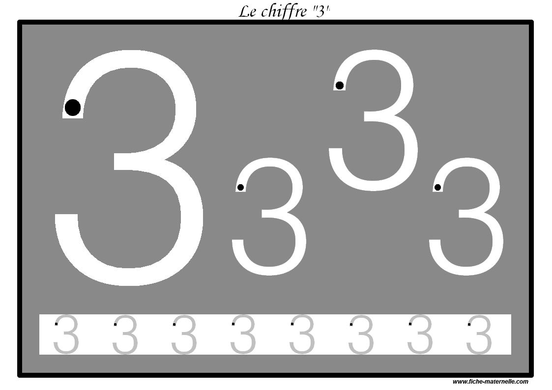 Uncategorized Ecrire des pistes graphiques plastifier pour apprendre les le chiffre 3
