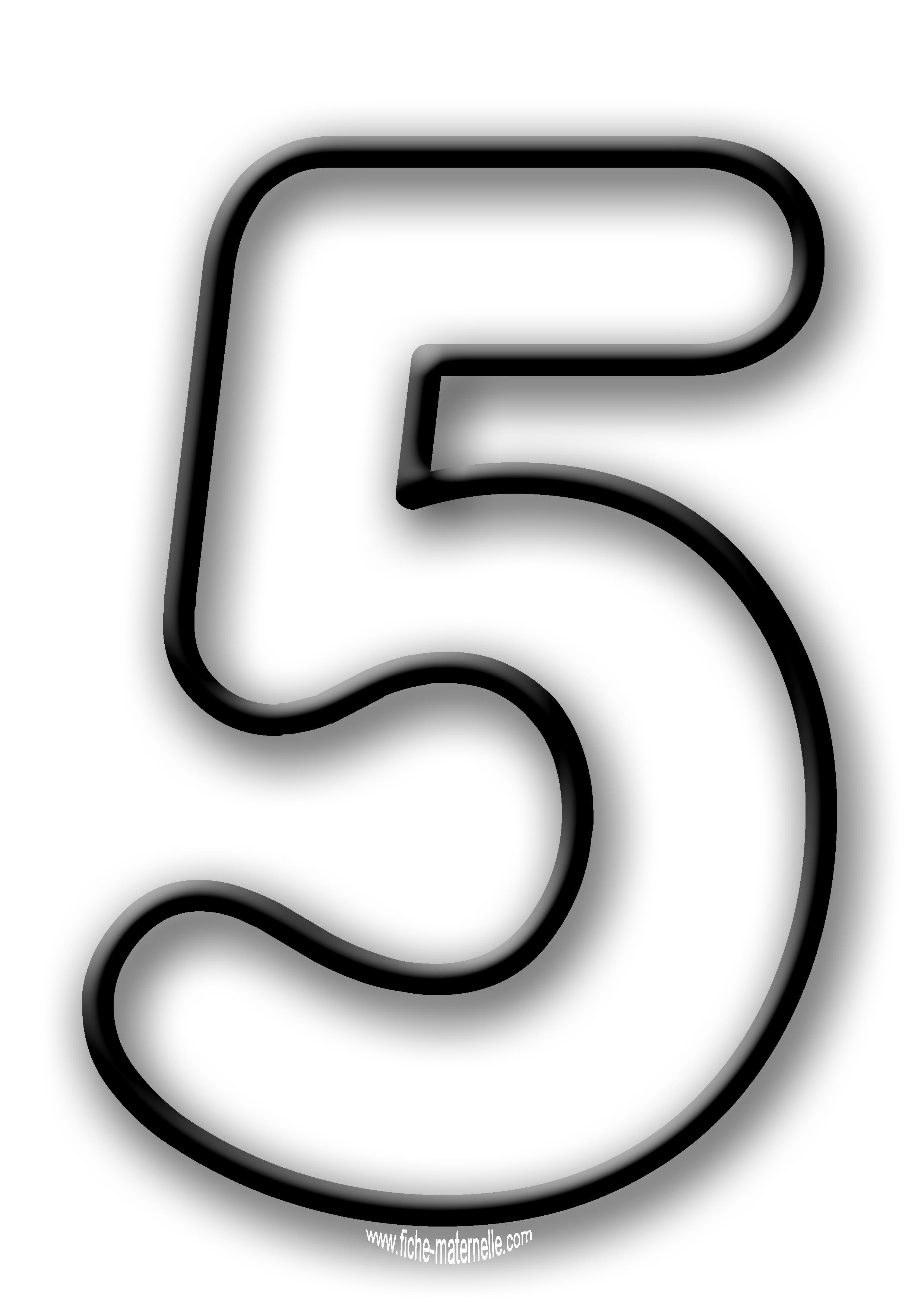 Coloriage des chiffres - Dessin de chiffre ...