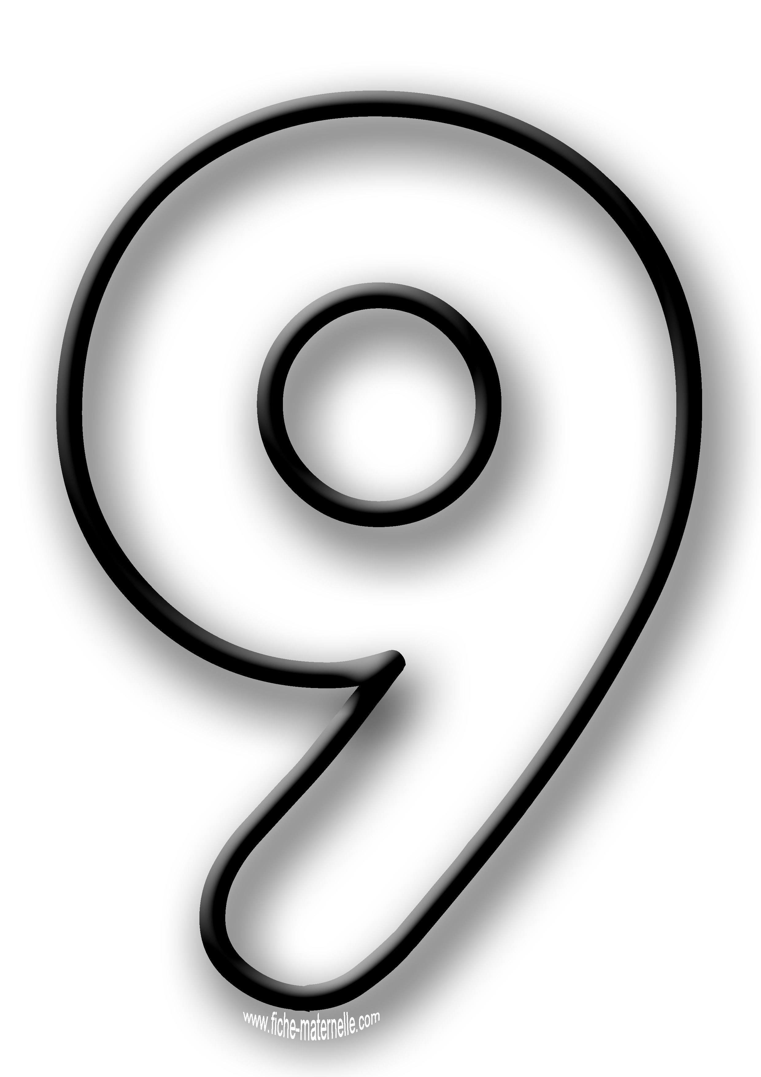 Coloriage enfant chiffre 8 - Dessin de chiffre ...