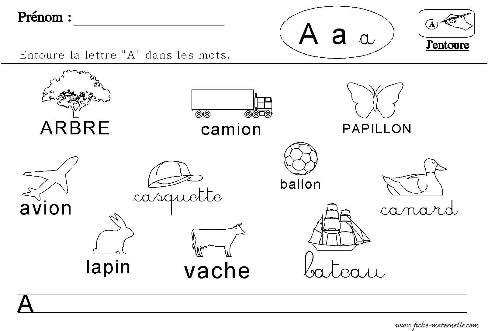 la lettre a Maternelle : lecture des lettres de l'alphabet la lettre a
