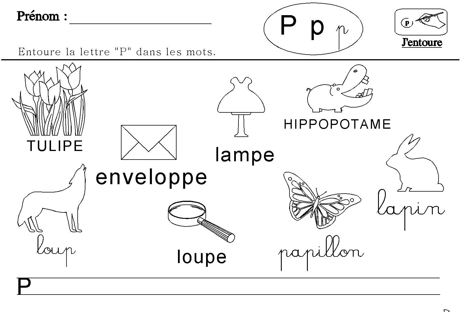 Maternelle : lecture des lettres de l'alphabet