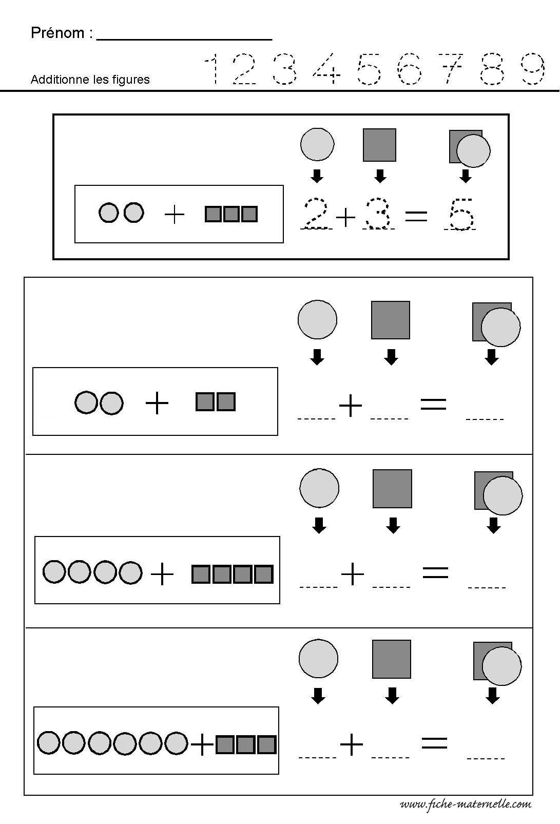Math matiques additionner des quantit s - Addition grande section ...