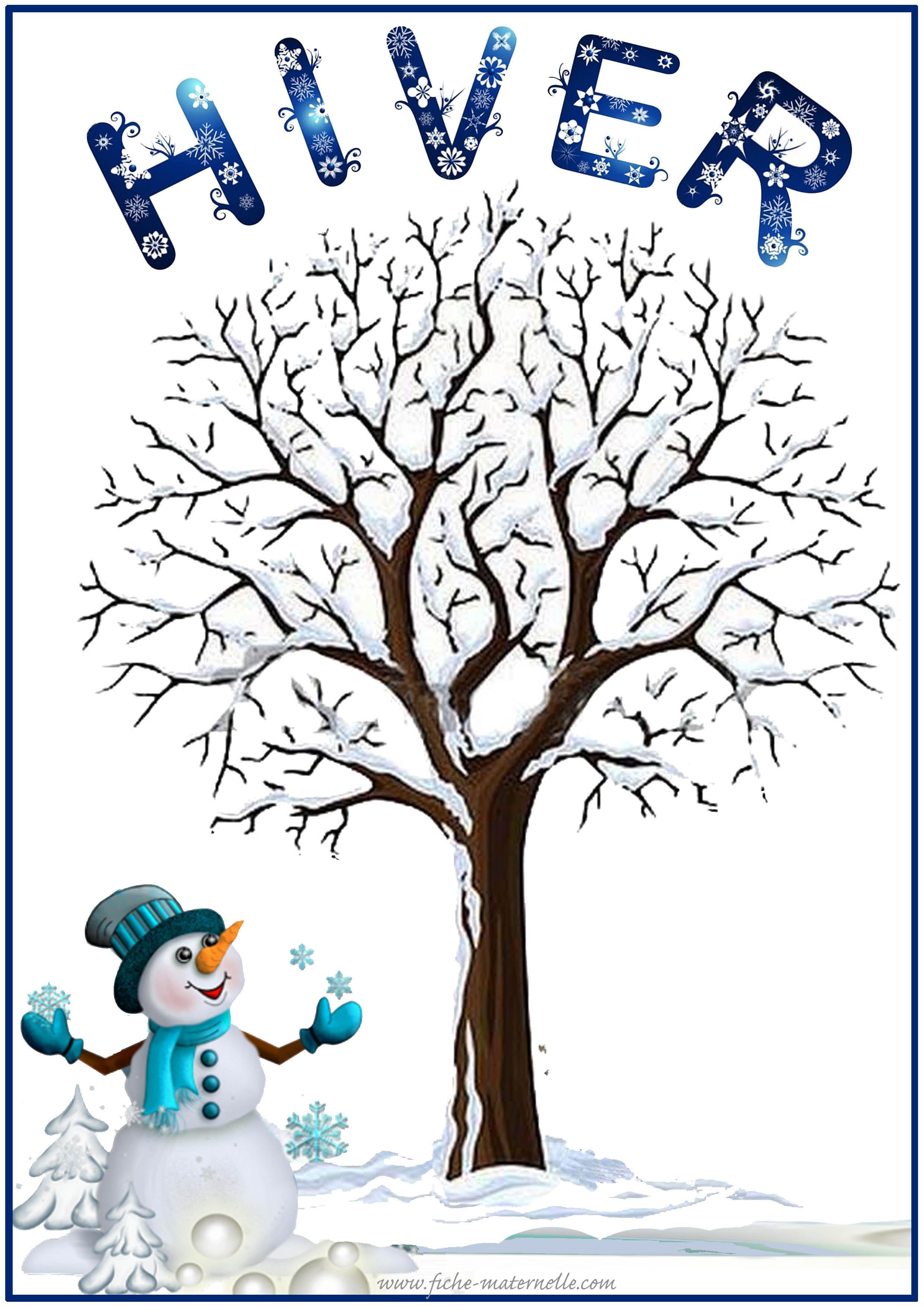 Affichage des saisons en maternelle - Dessin sur l hiver ...