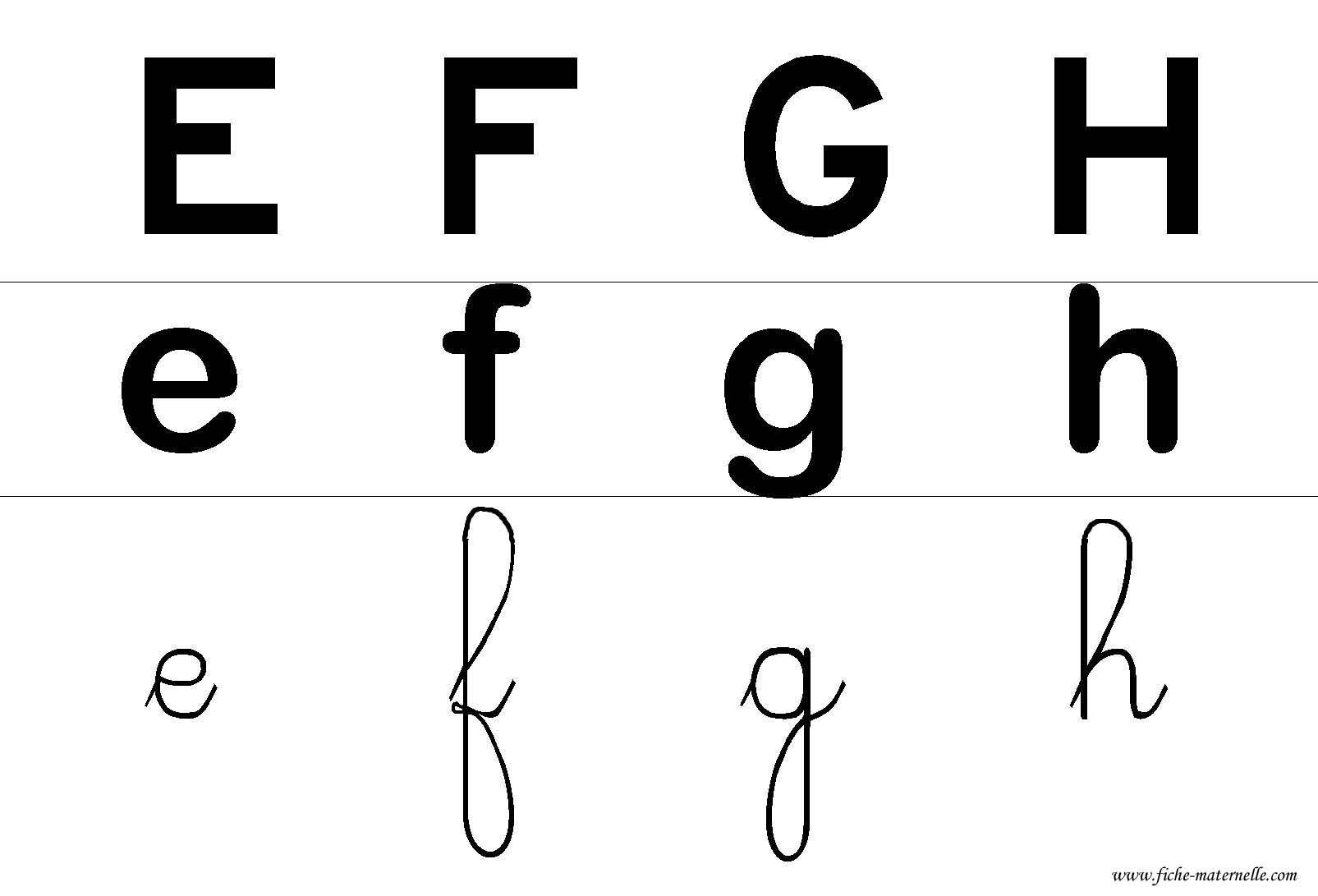 lettres de l alphabet afficher dans la classe efgh