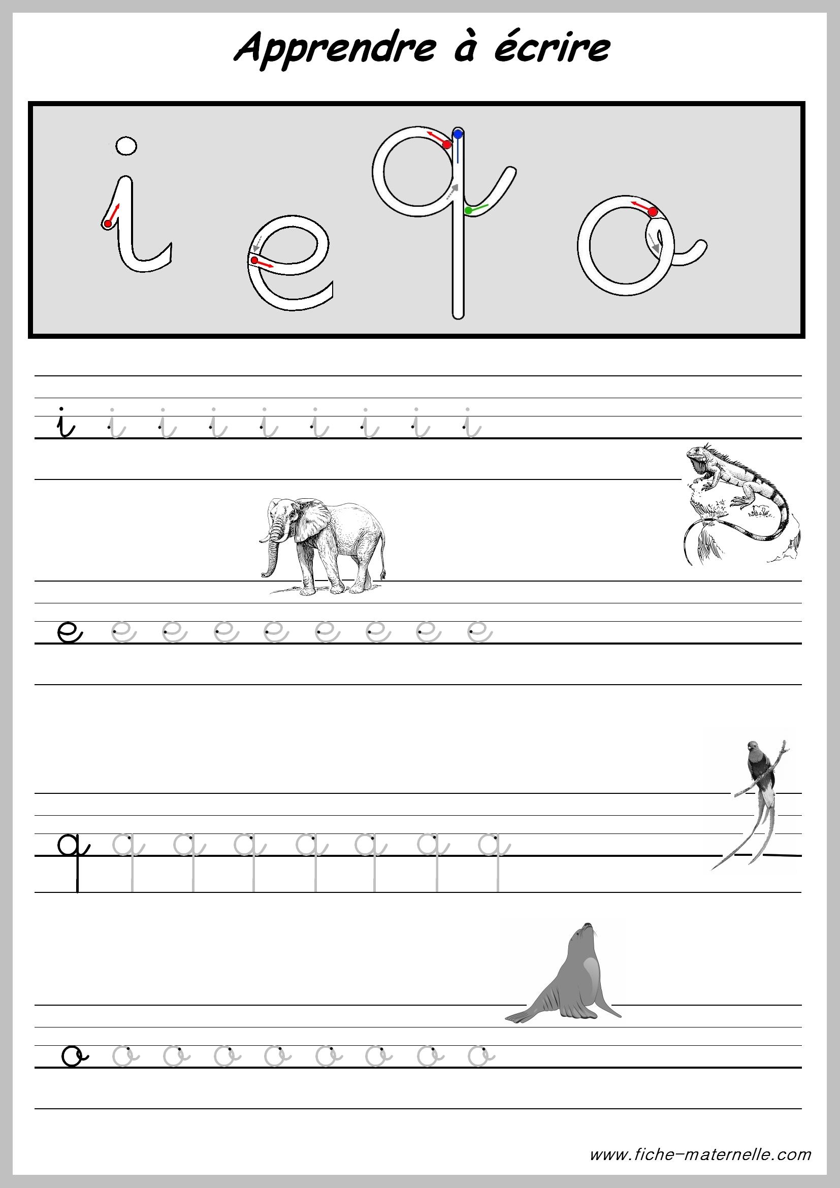 Exercices pour apprendre a ecrire - Lettres alphabet maternelle ...