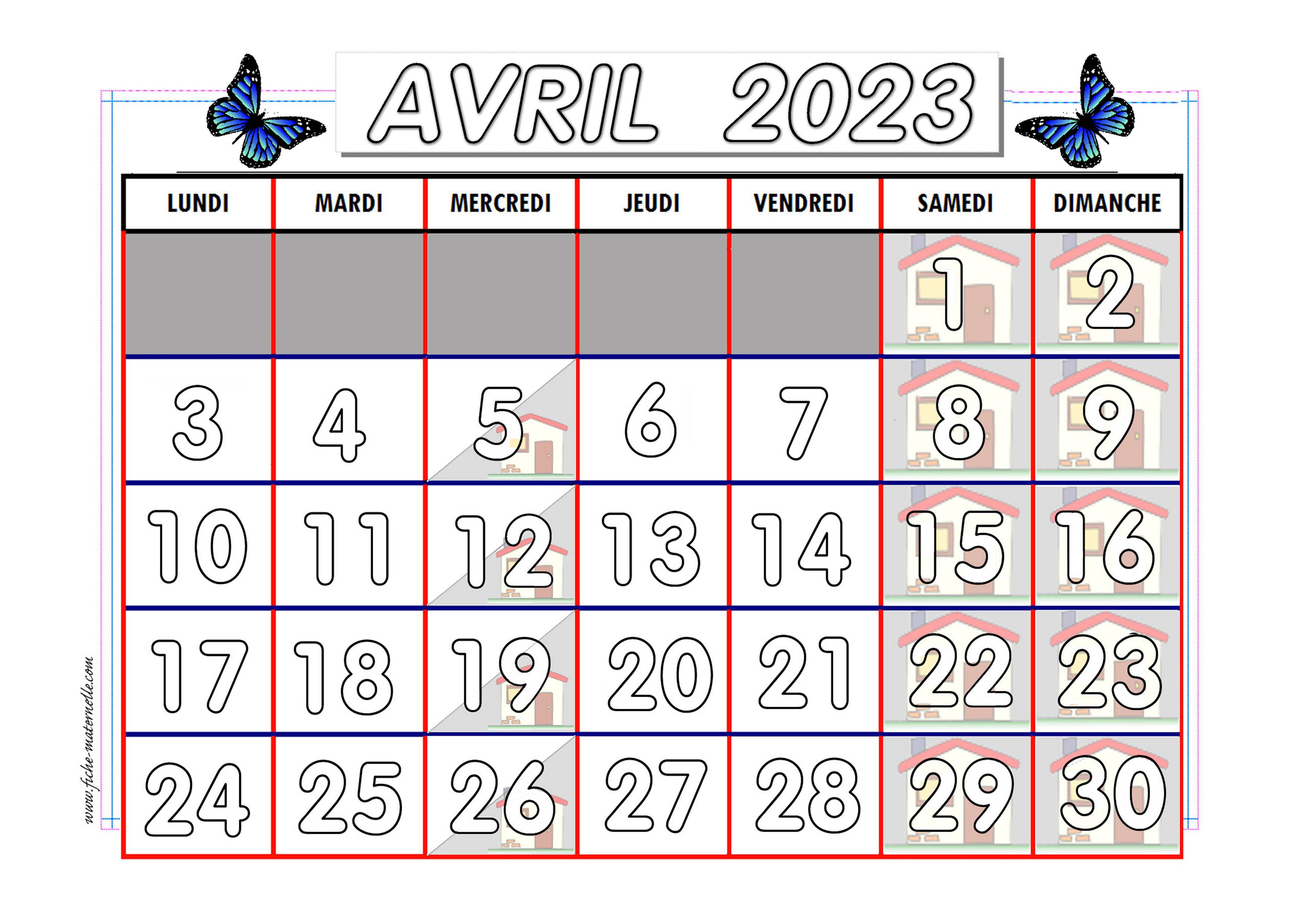 Calendrier adapté aux maternelles et préscolaires 2020 2021