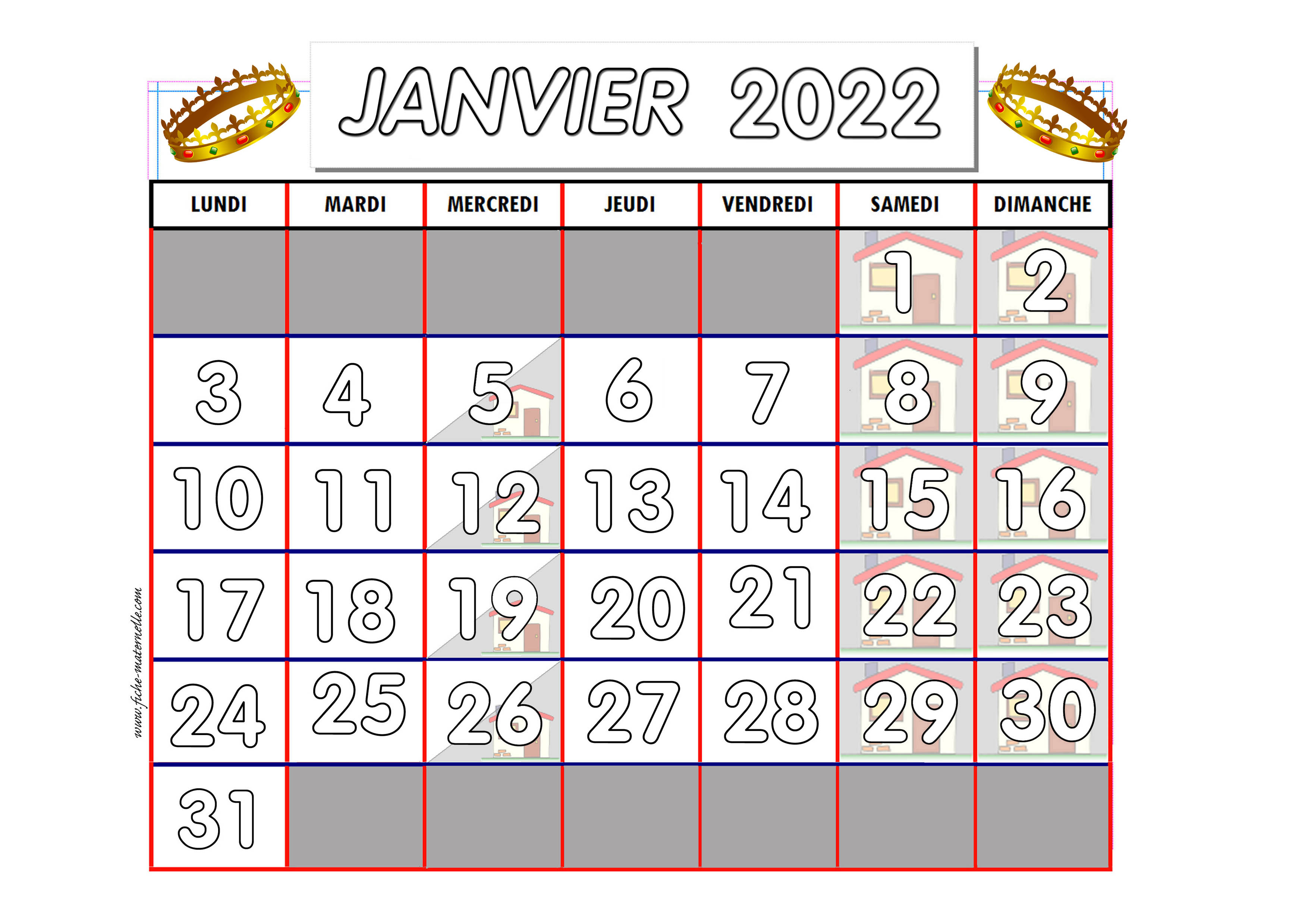 Calendrier Mois Janvier Janvier 2015 Pictures to pin on Pinterest