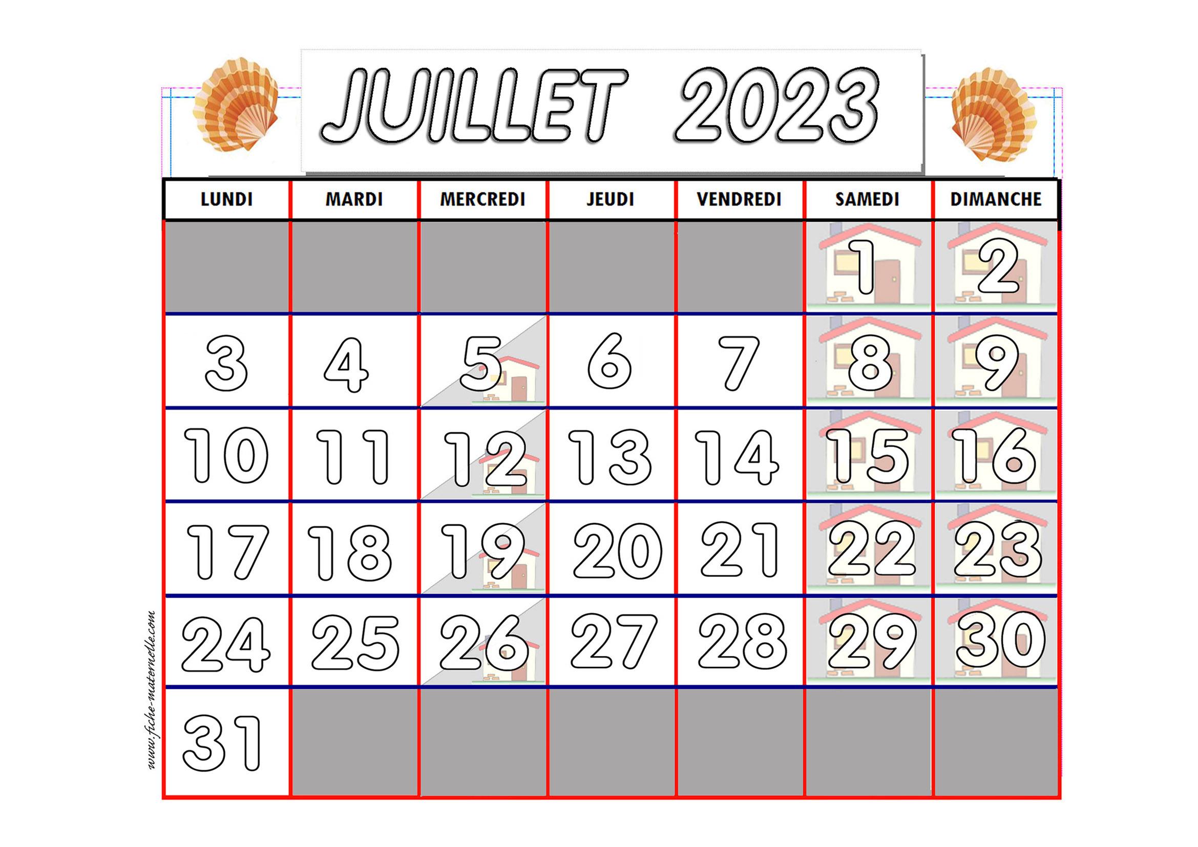 Calendrier A Imprimer Juillet 2019.Calendrier Adapte Aux Maternelles Et Prescolaires 2018 2019
