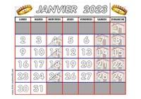 Calendrier Janvier 2021 Maternelle Calendrier adapté aux maternelles et préscolaires 2020 2021