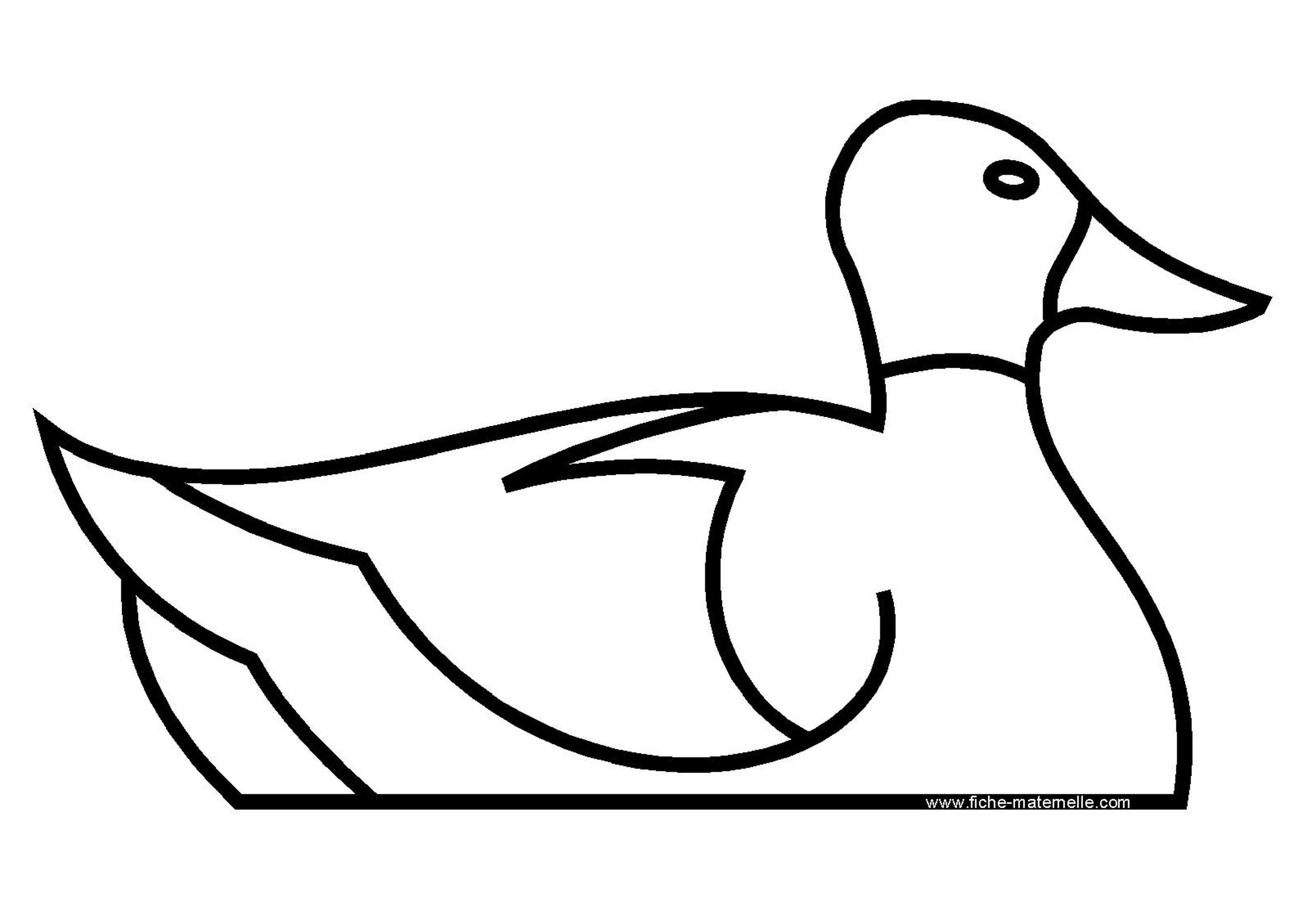 Coloriage - Canard dessin facile ...