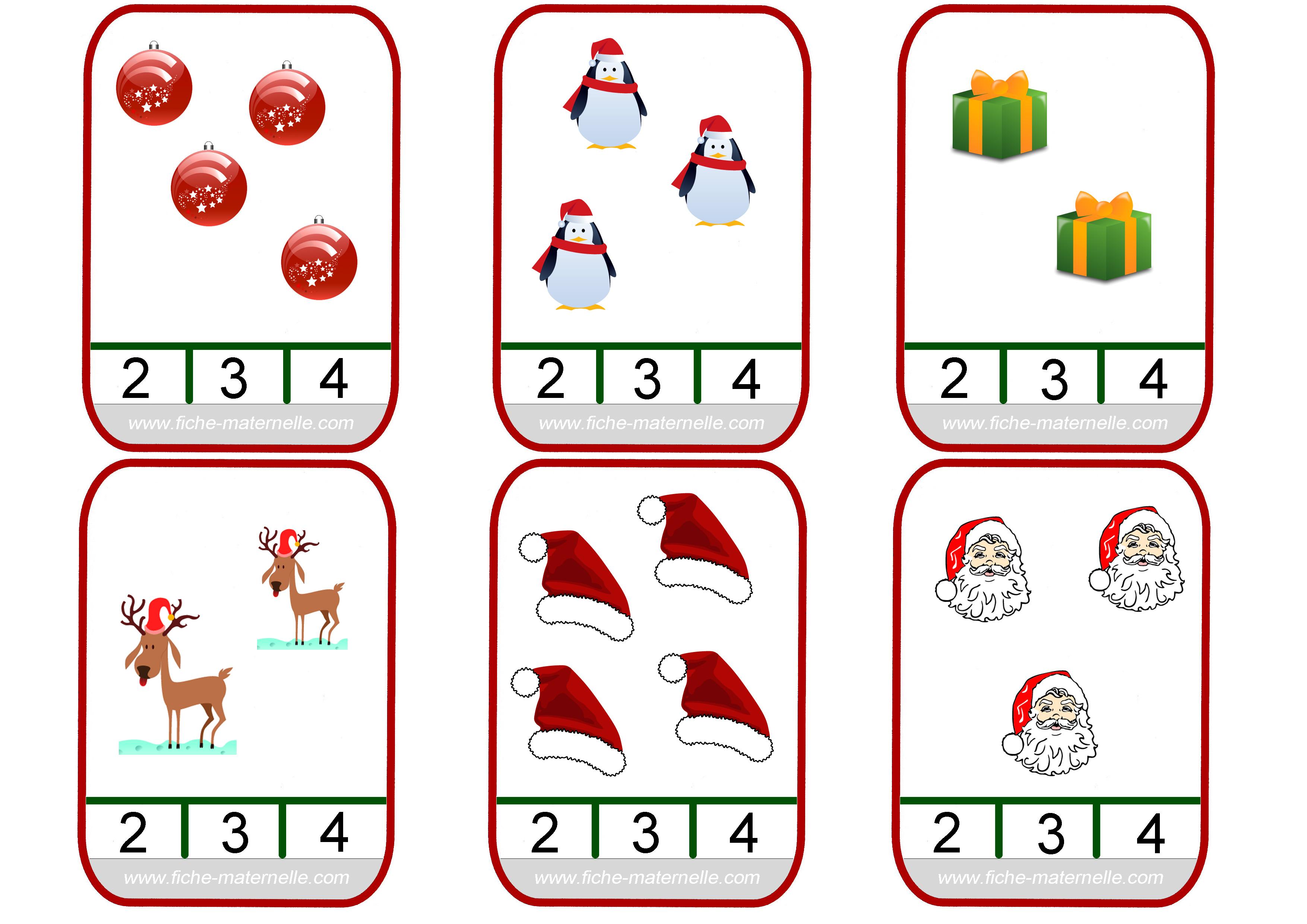 noel maternelle Mathématiques sur le thème de Noël en maternelle et CP noel maternelle
