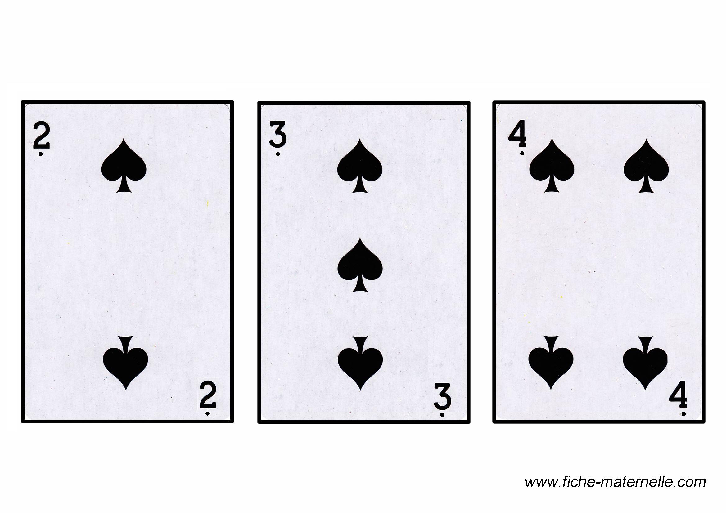 jeu carte a 2 Jeux mathématiques en maternelle et cp