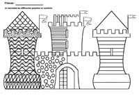 Coloriage Chateau Fort Gs.Fiches Maternelles De Graphisme Grande Section Moyenne Section Ecriture