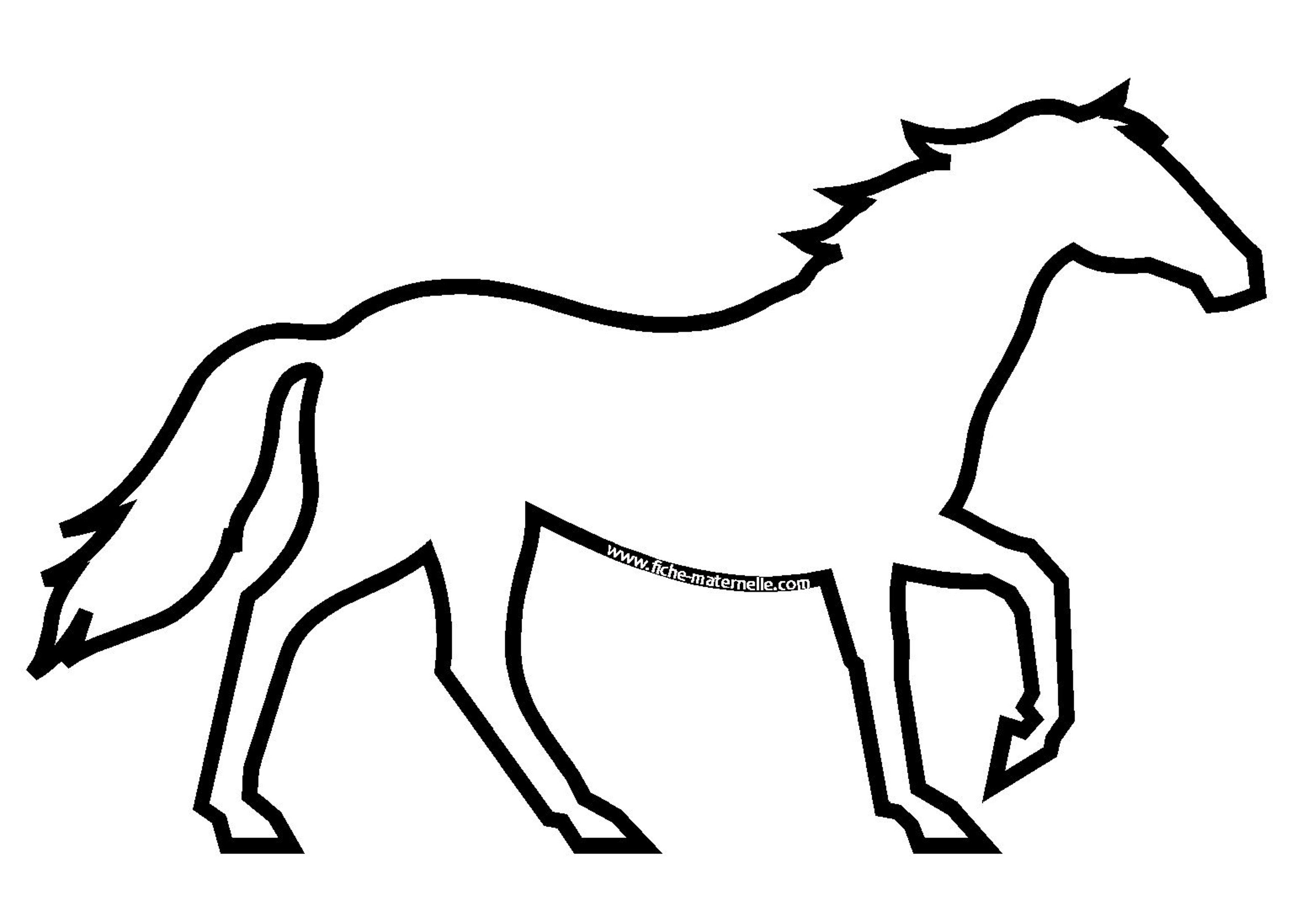Coloriage - Dessiner un cheval facilement ...