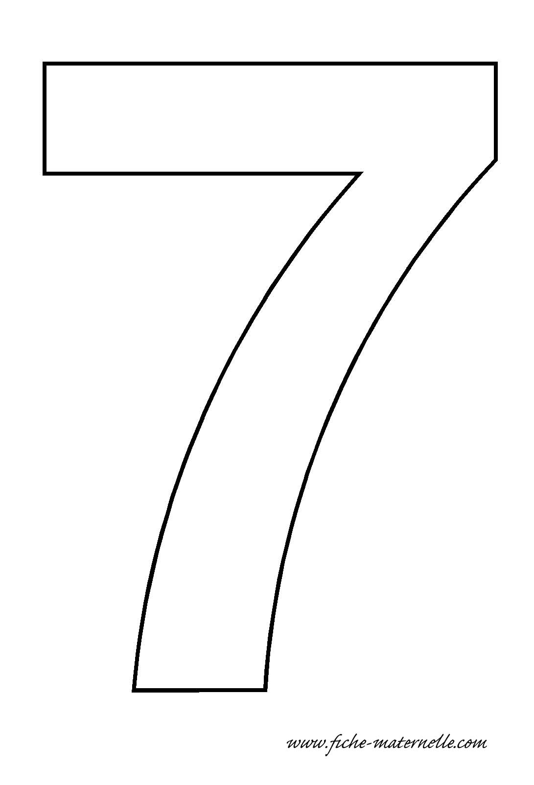 Free Coloring Pages Of Numbers 7 Coloring Pages 7