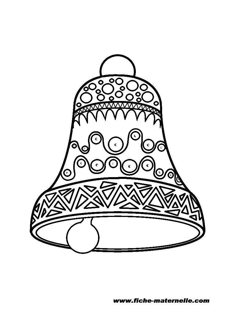 Cloche d corer et colorier en maternelle - Dessin d une cloche ...