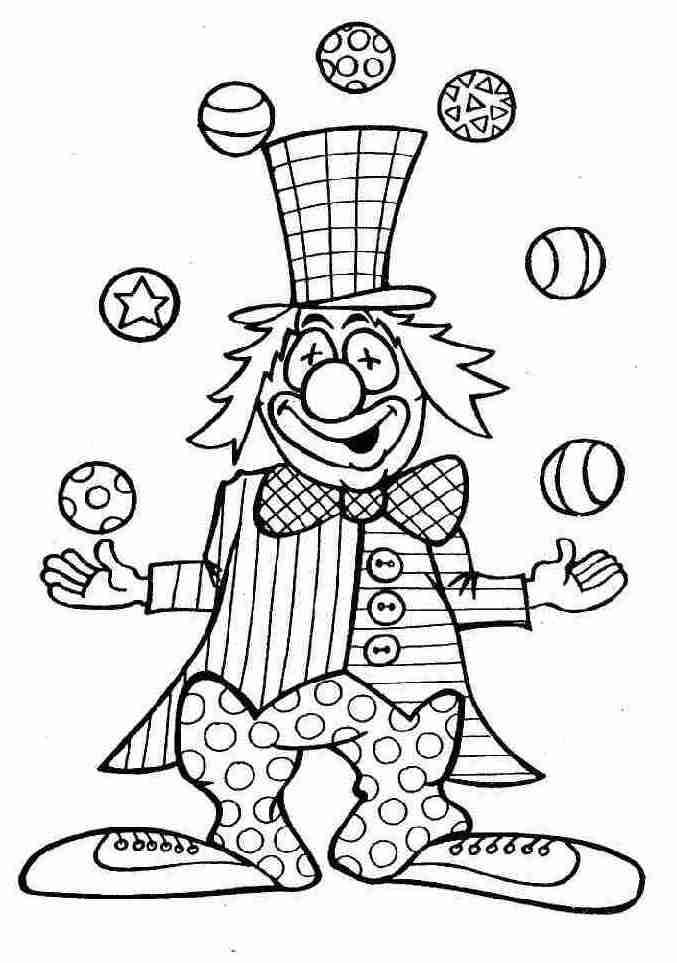 Graphisme en maternelle colorier le clown - Coloriage arlequin maternelle ...