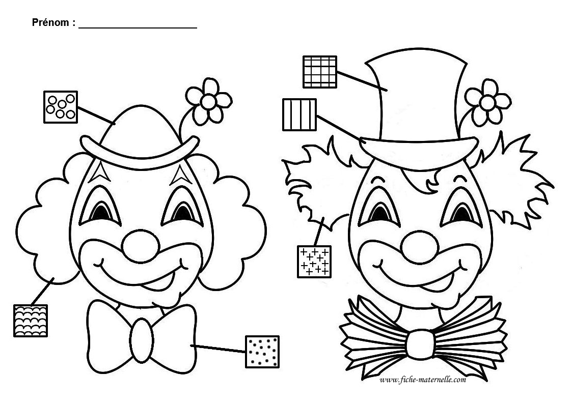 clown activit graphique en maternelle. Black Bedroom Furniture Sets. Home Design Ideas