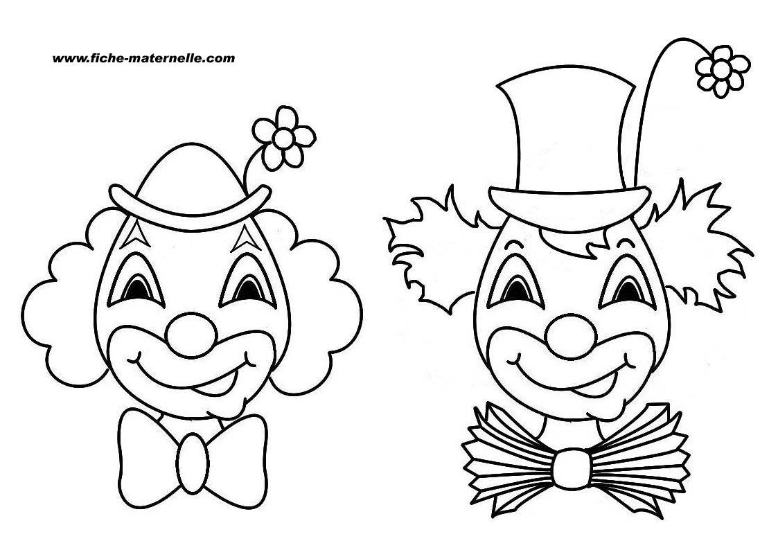 Lection de dessins de coloriage clowns - Coloriage cirque maternelle ...