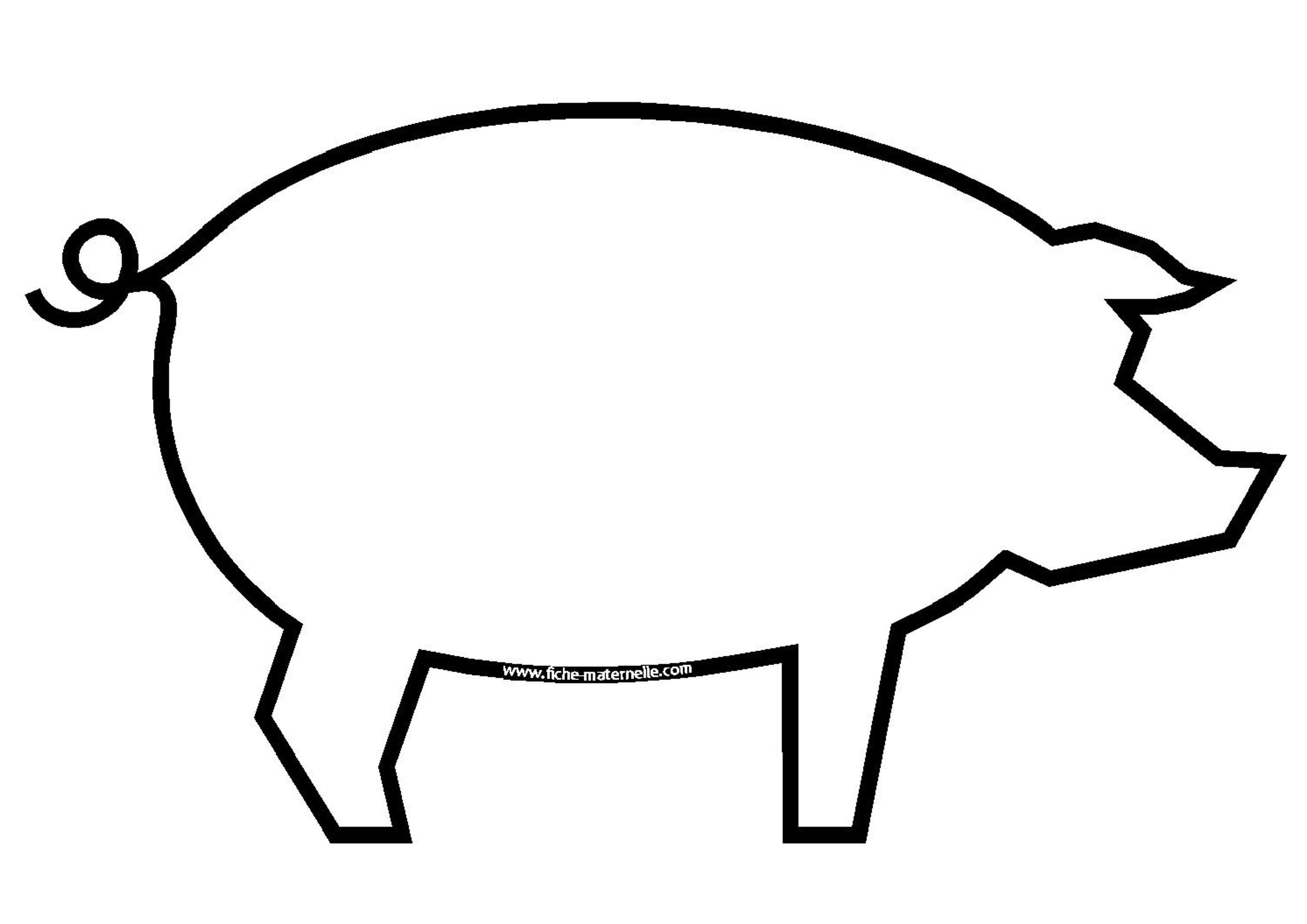 Coloriage - Dessin d un cochon ...
