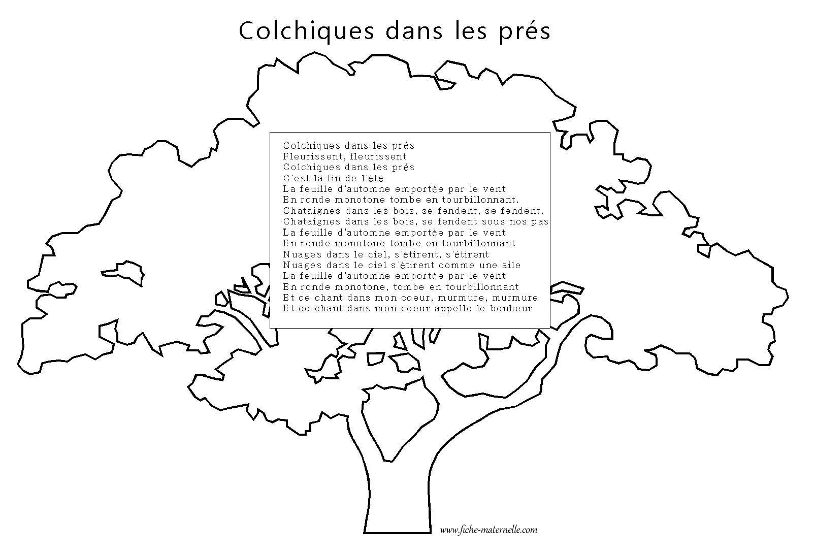 Colchiques dans les pr s po sie sur les saisons - Colchique dans les pres ...