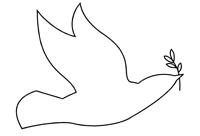 Effets graphiques en art plastique lignes qui dessinent la silhouette d 39 un animal - Colombe a colorier ...