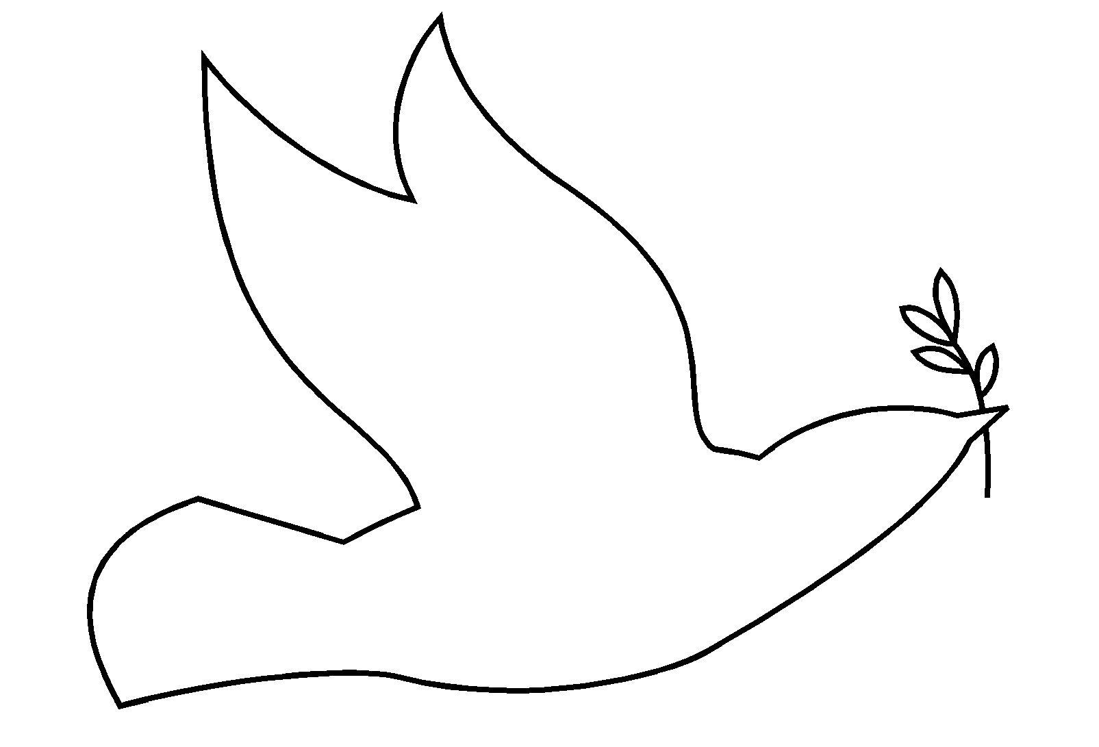 Art graphique tracer des silhouettes de personnages et d - Dessin de colombe a imprimer ...
