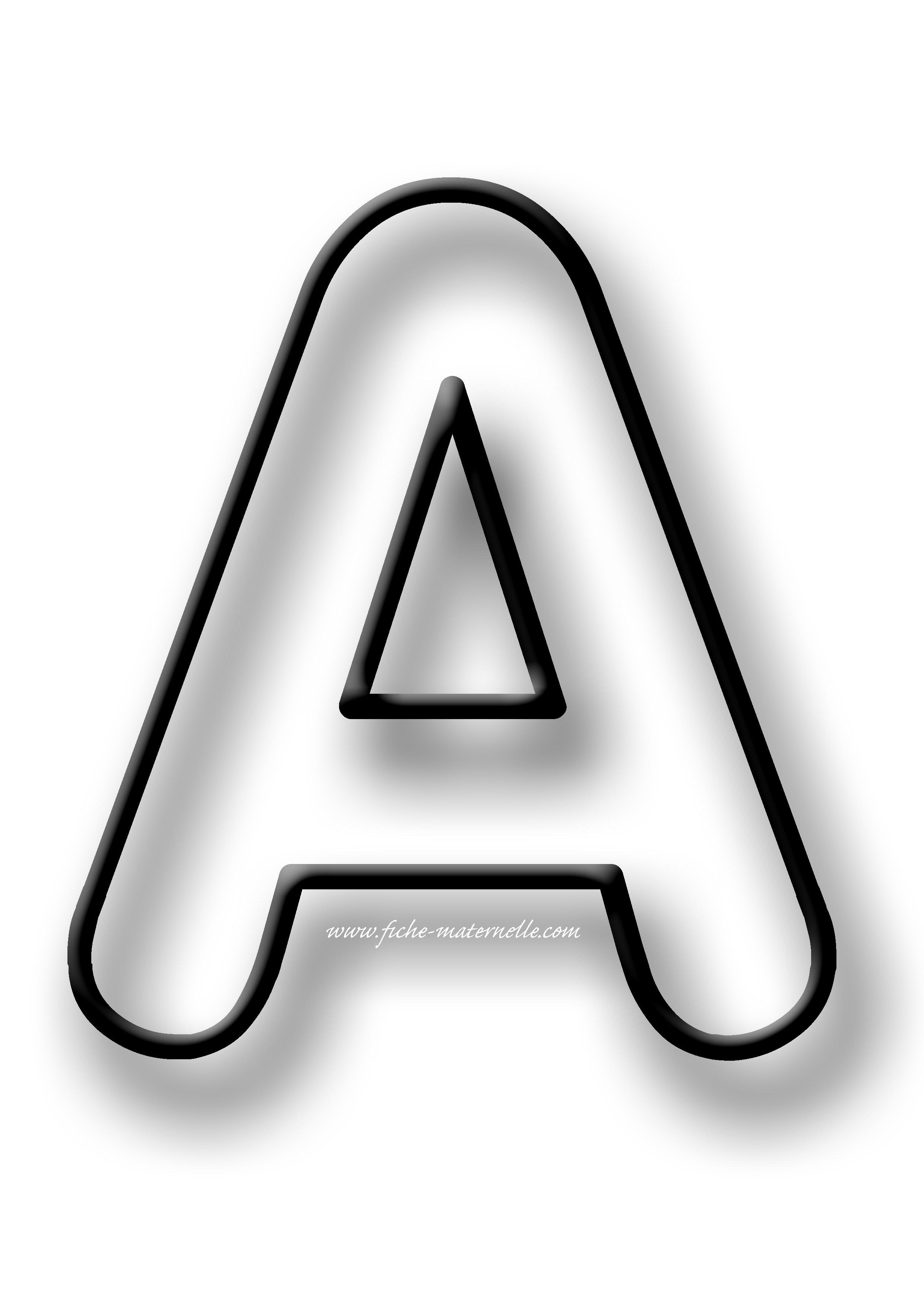 Coloriage Lettres De L Alphabet Maternelle