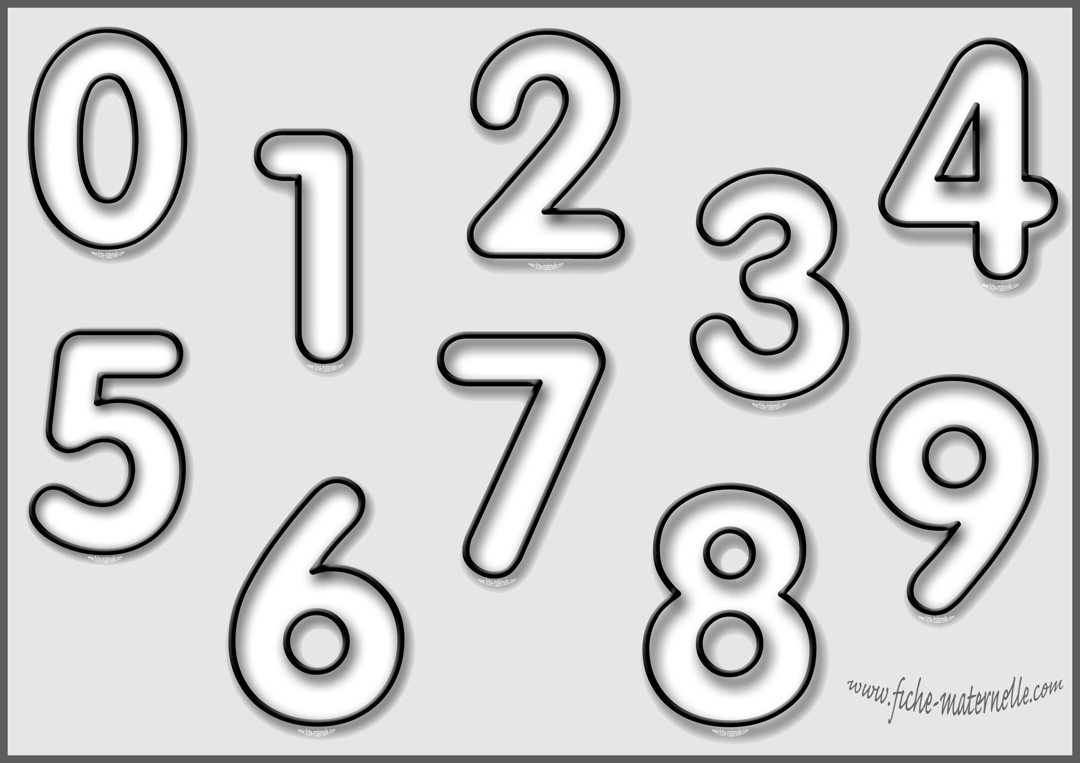 Coloriage les chiffres - Chiffre a imprimer ...