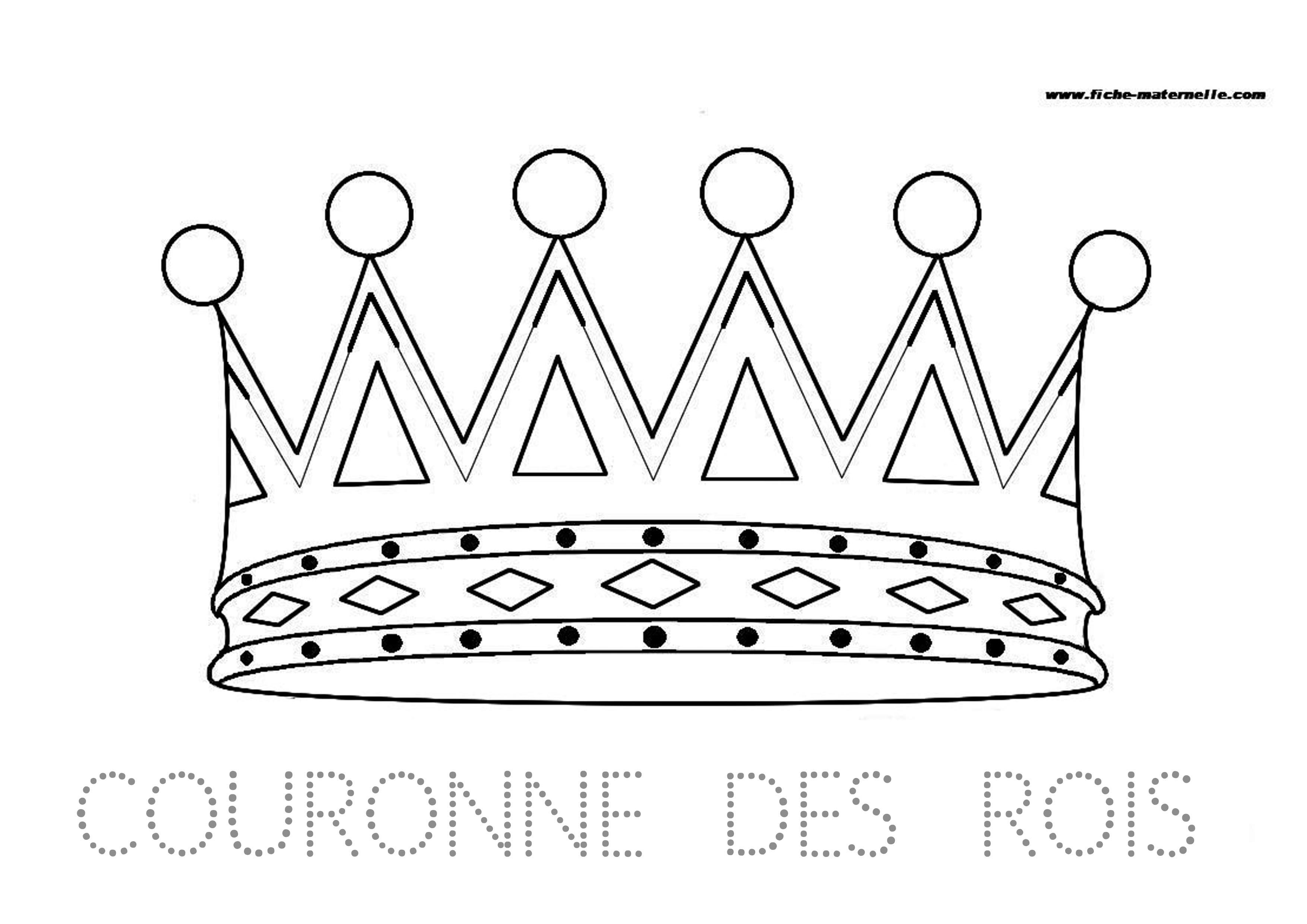 Site maternelle couronne des rois - Dessin sur galette des rois ...