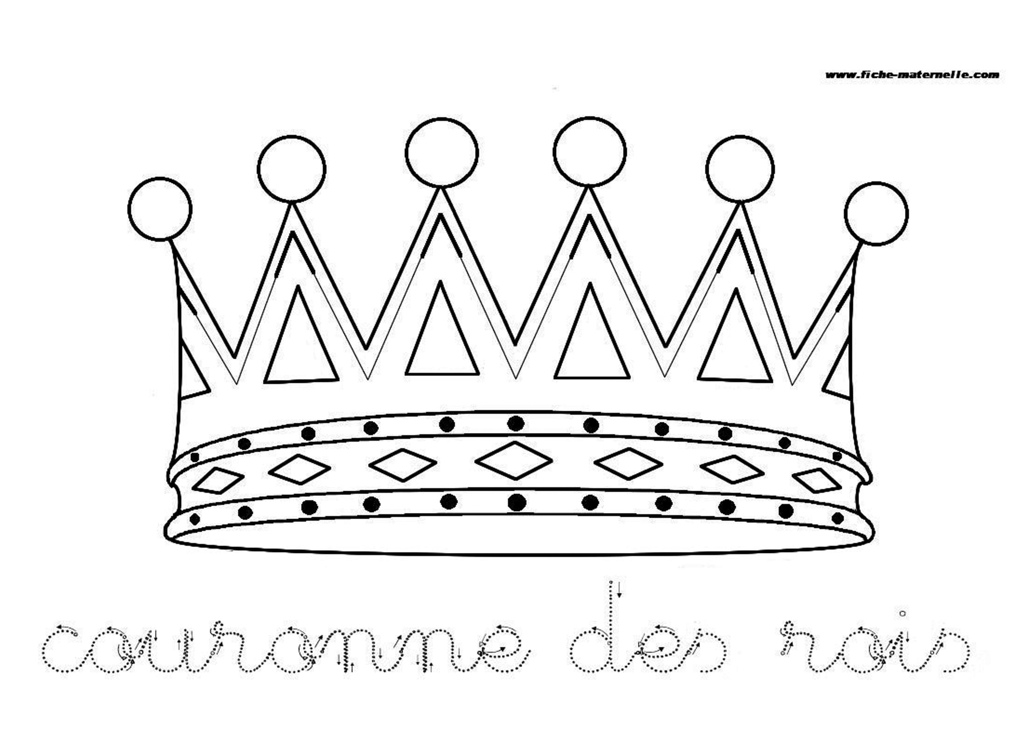 Site maternelle couronne des rois - Coloriage couronne ...
