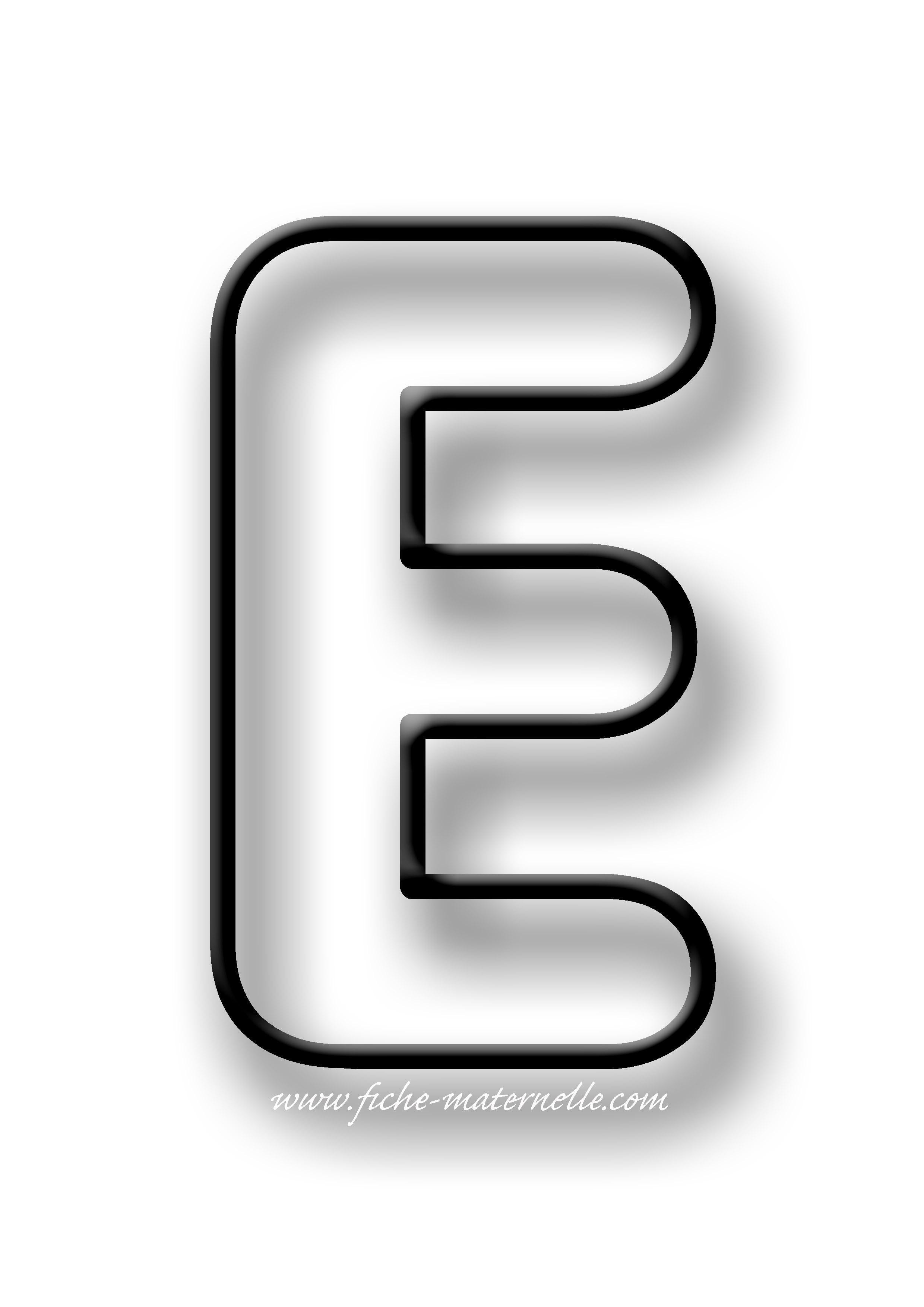 image de la lettre e