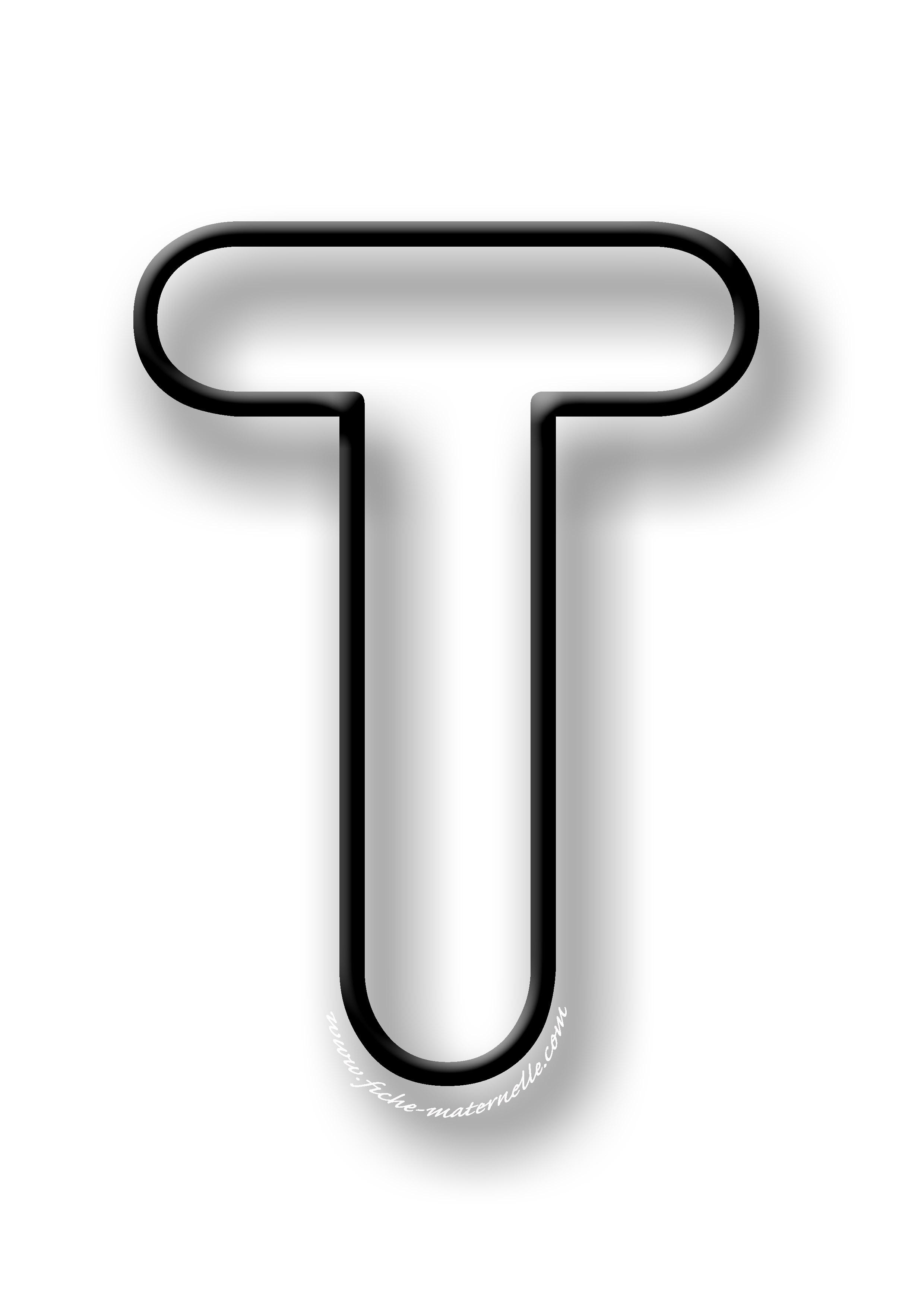 image de la lettre t