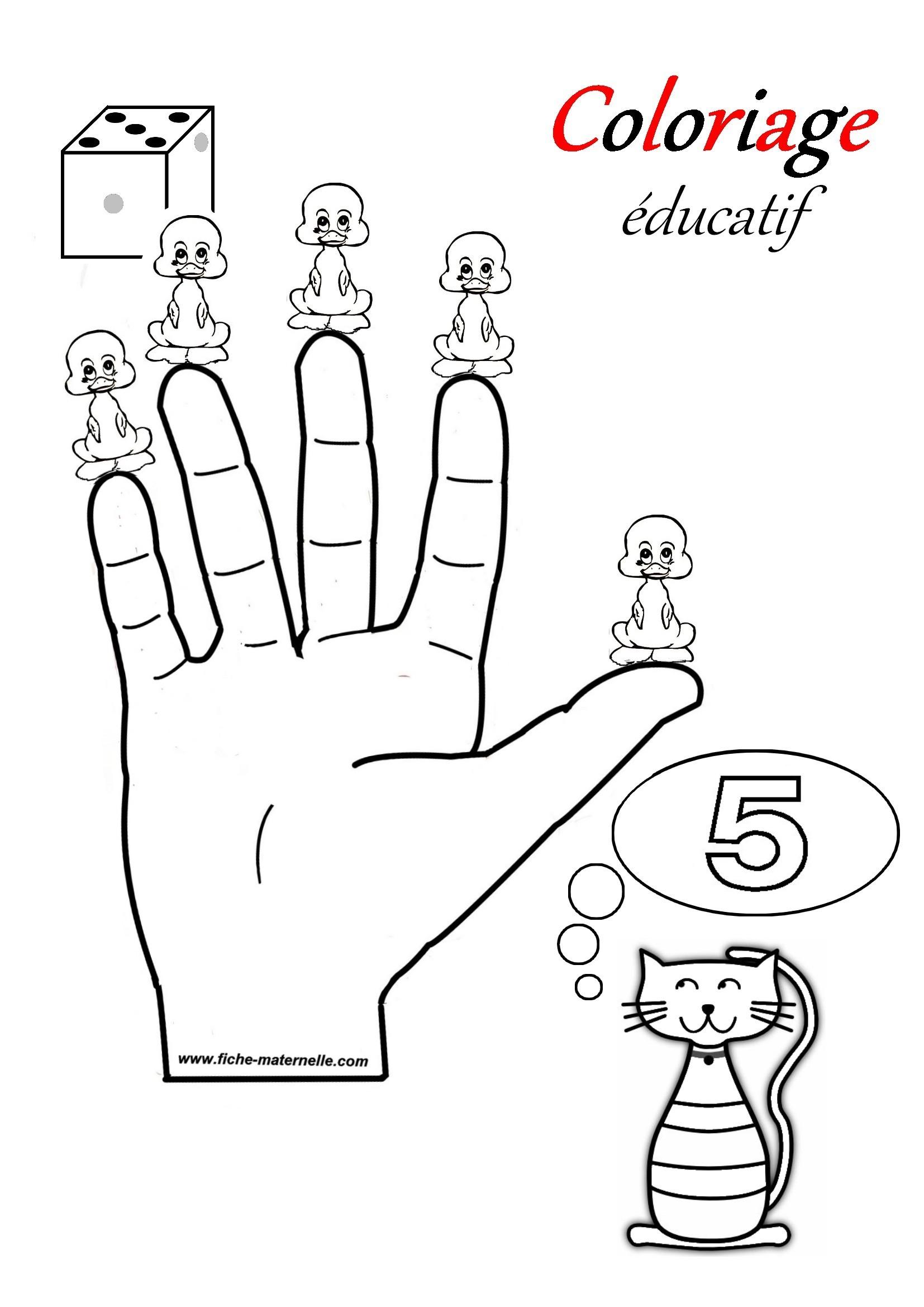 COLORIAGE EDUCATIF : apprendre à compter