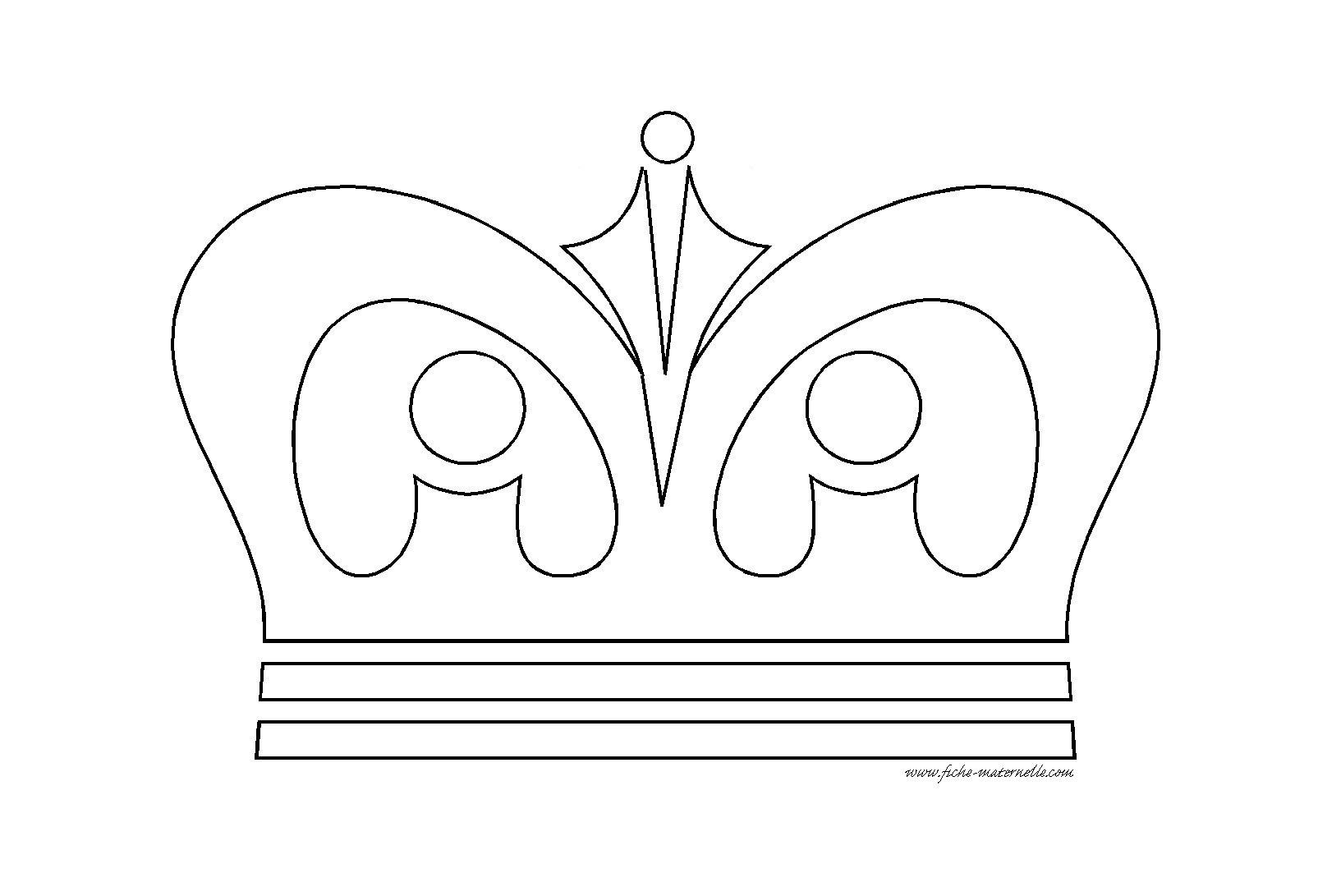 Coloriage de couronne de roi pour enfants de maternelle PS ...