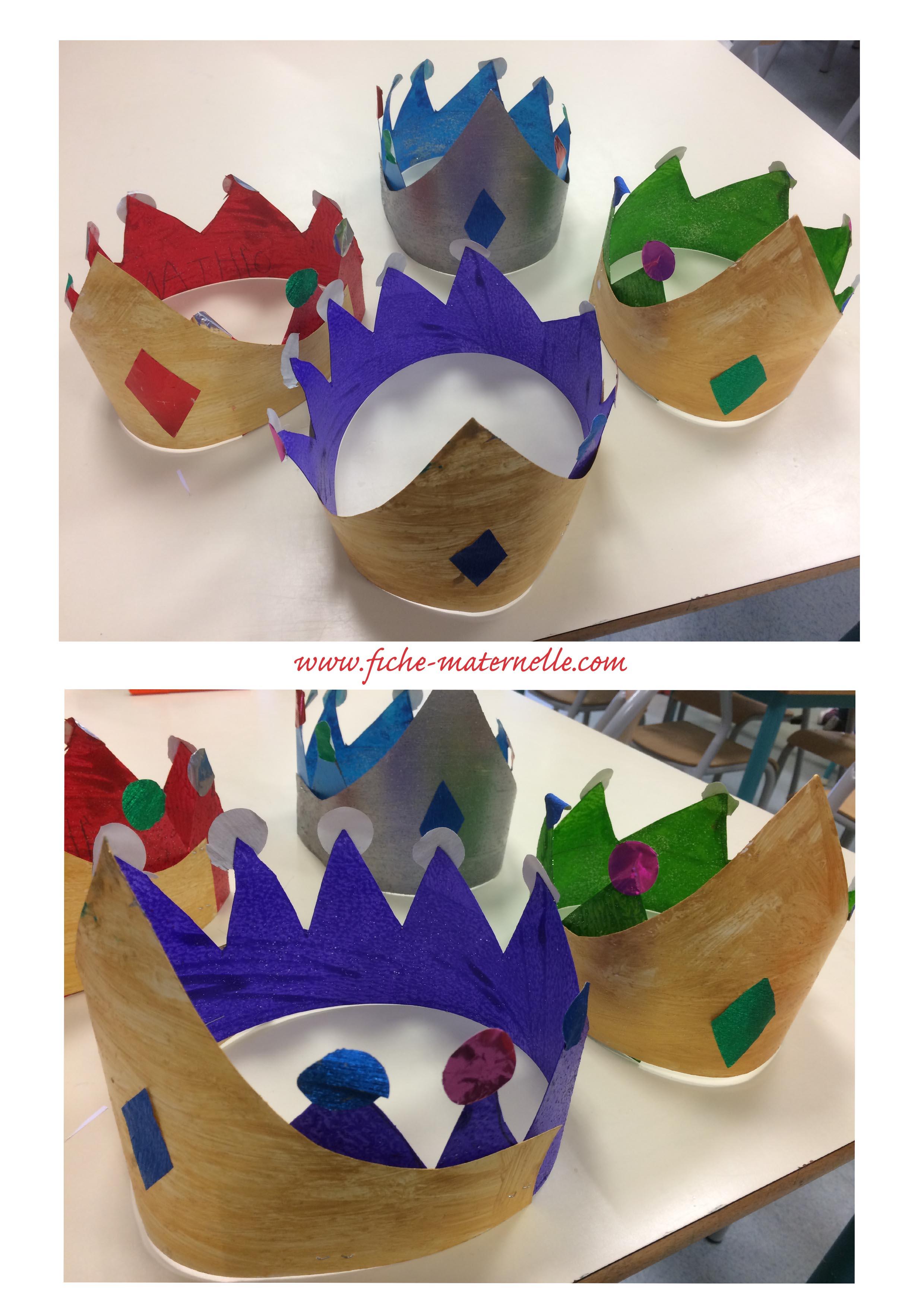 Couronne des rois en maternelle - Couronne de roi a fabriquer ...