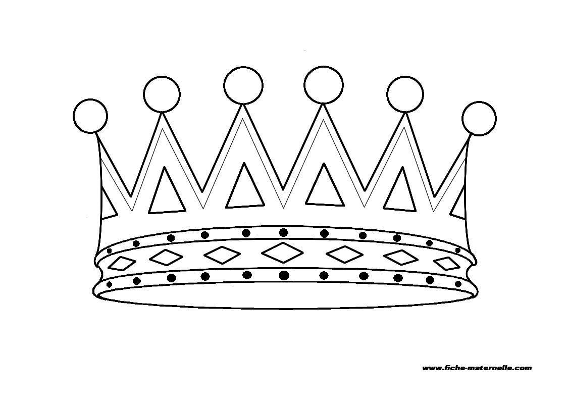 Coloriage Chateau Ps.Coloriage De Couronne De Roi Pour Enfants De Maternelle Ps Ms Et Gs