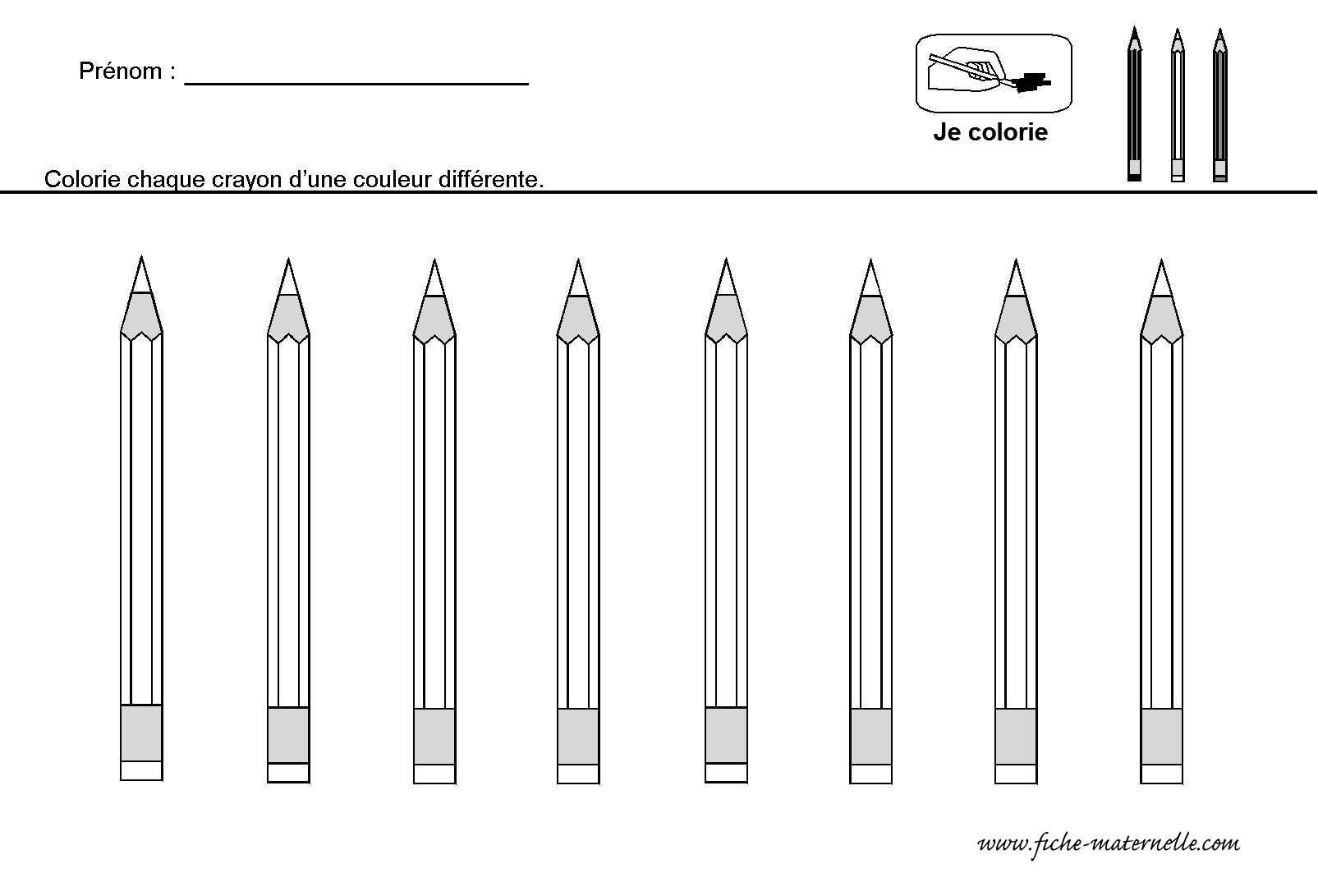 Coloriage Crayon De Couleur 30000 Collections De Pages