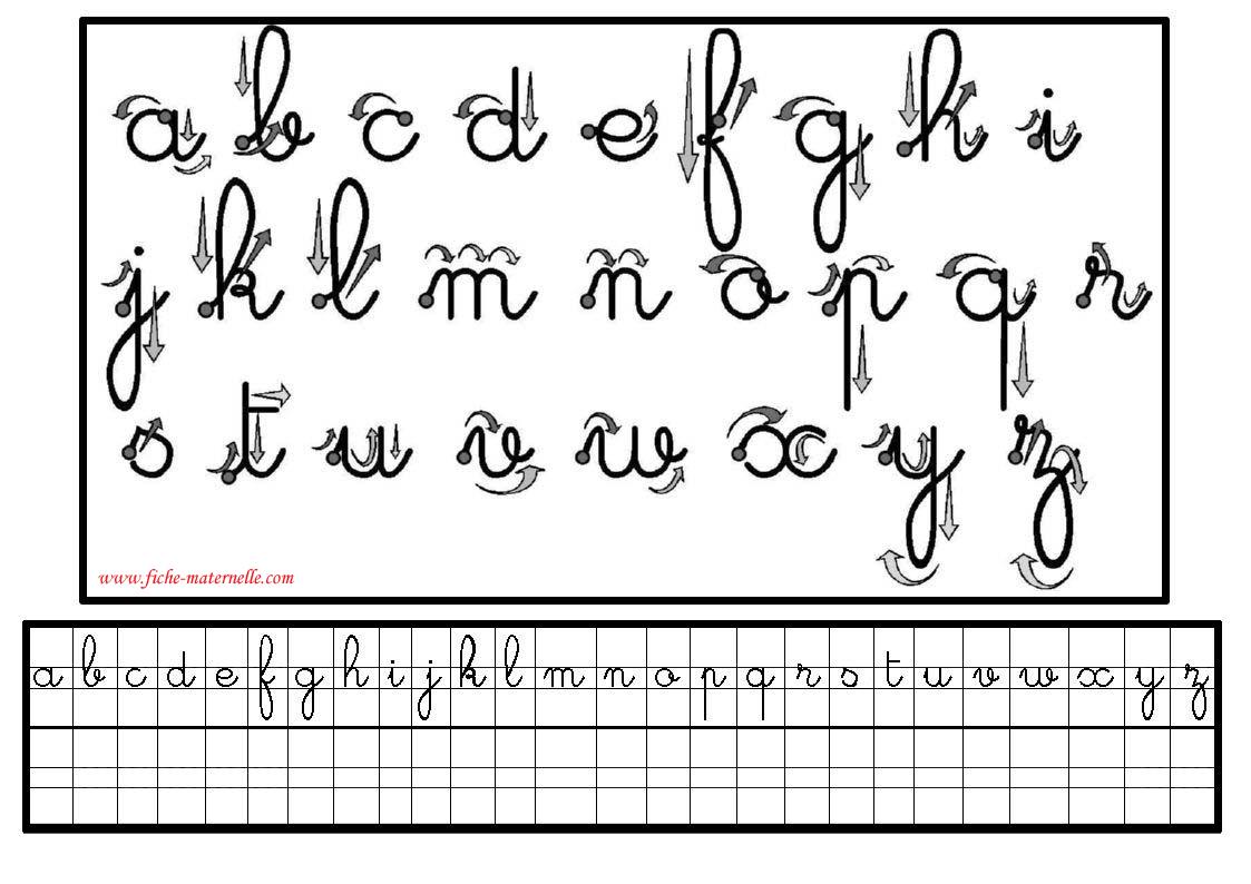 Apprendre à écrire les lettres cursives
