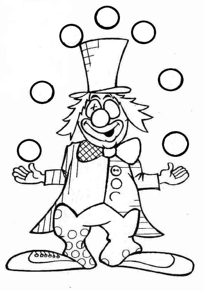 Graphisme en maternelle clown et graphies de base - Coloriage cirque maternelle ...