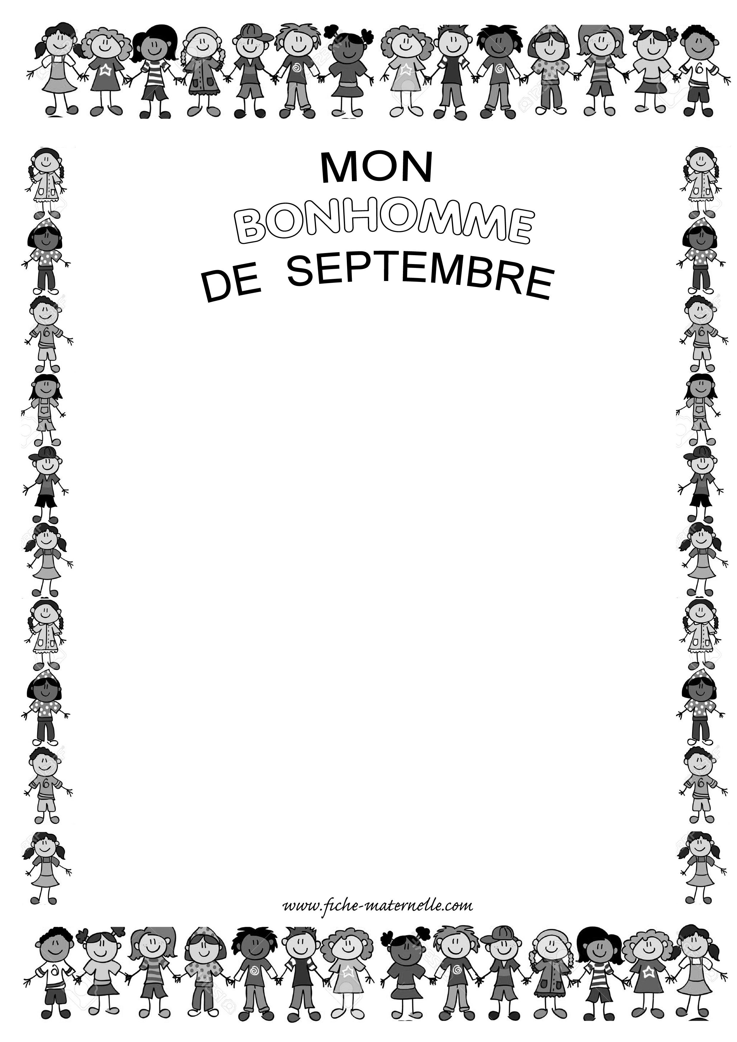 Le bonhomme en maternelle - Le dessin du bonhomme ...