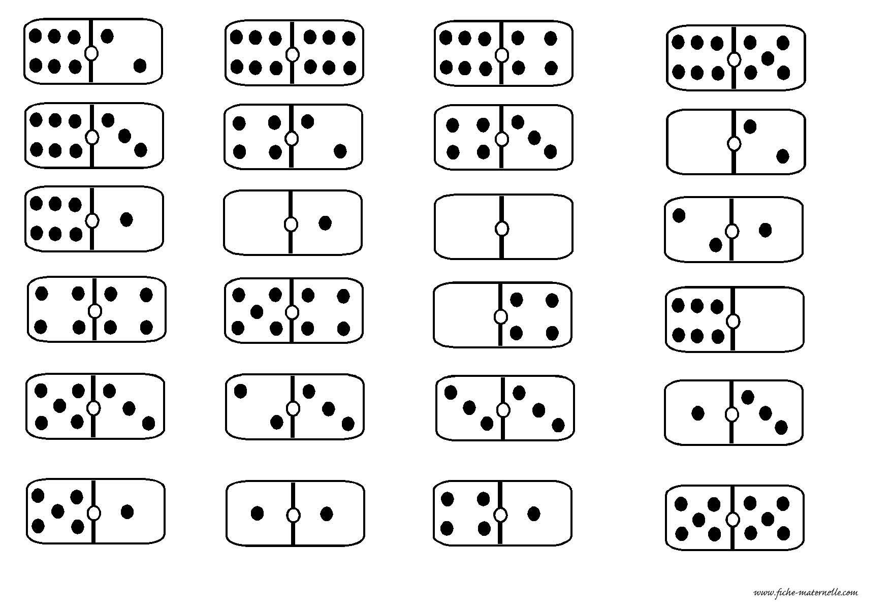 Des dominos en maternelle - Coloriage domino ...