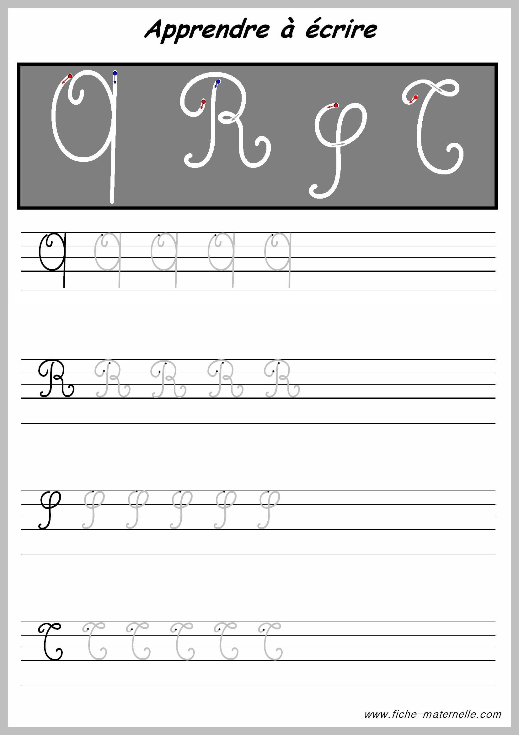 Exercices pour crire les lettres majuscules - K en majuscule ...