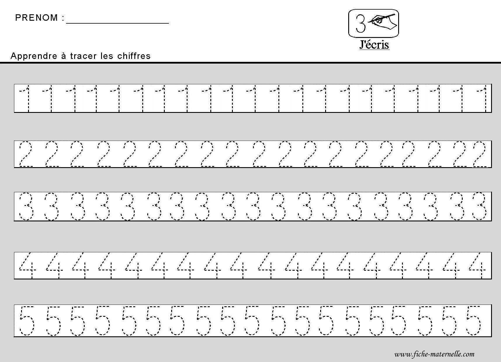 Beliebt Site maternelle : apprendre à tracer des chiffres en moyenne section GL28