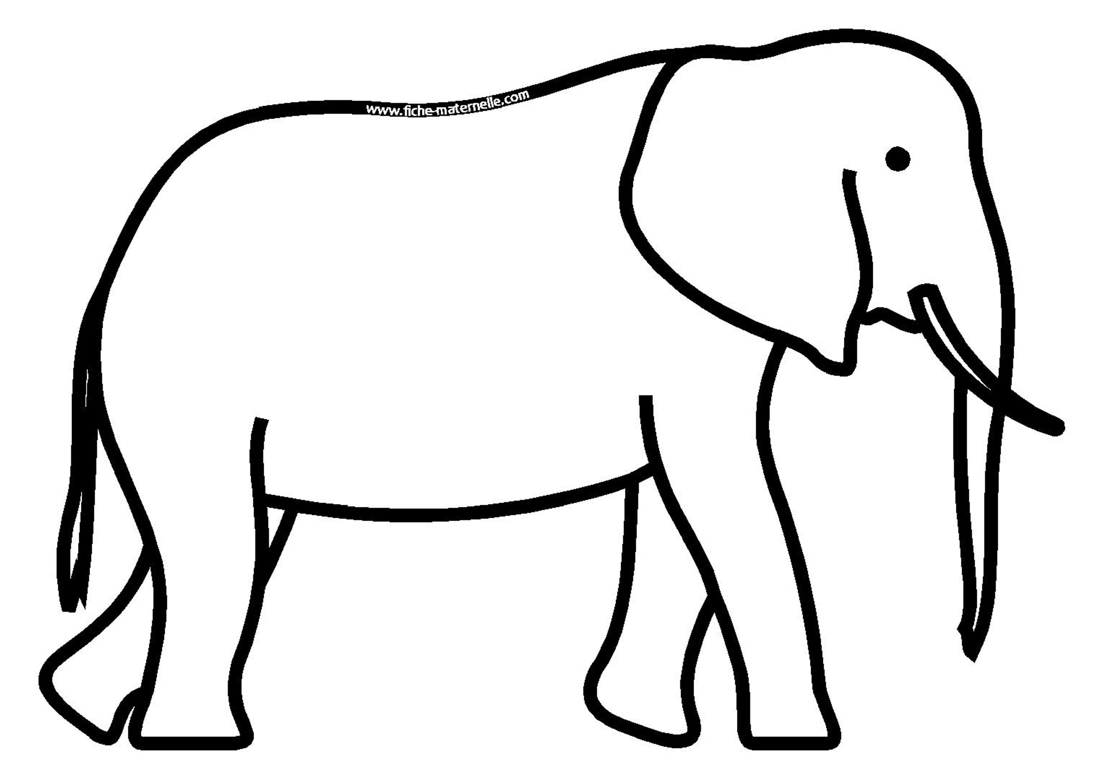Coloriage - Dessin d un elephant ...