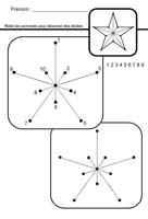 tracé étoile 5 branches