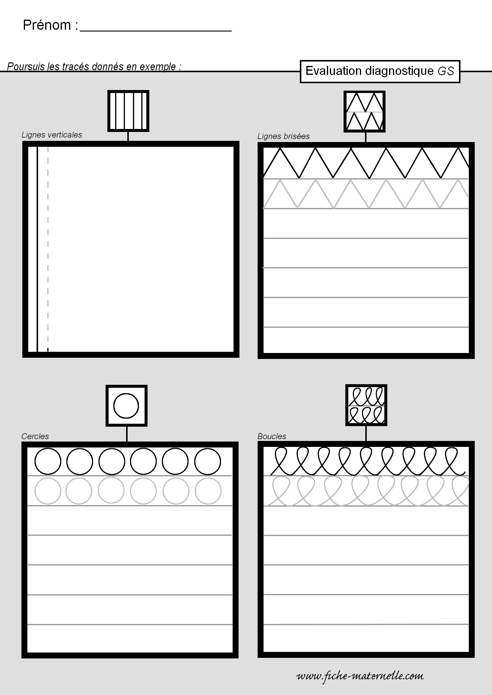 classe maternelle evaluation diagnostique en gs. Black Bedroom Furniture Sets. Home Design Ideas