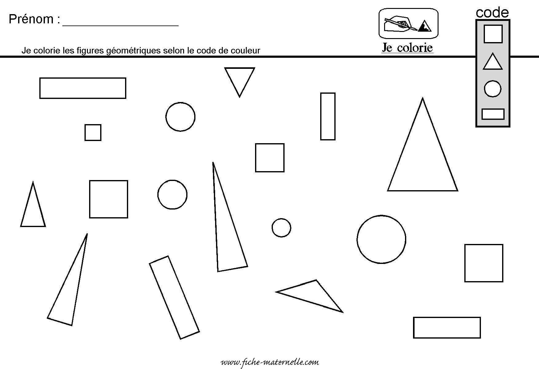 Site maternelle g om trie en grande section et moyenne - Coloriage des formes geometriques ...