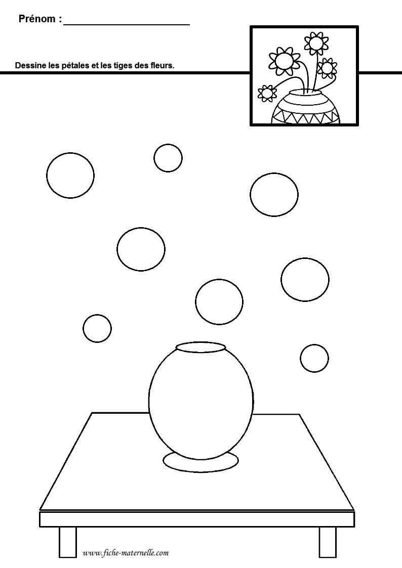 Graphisme sur le th me du printemps - Dessiner un vase ...